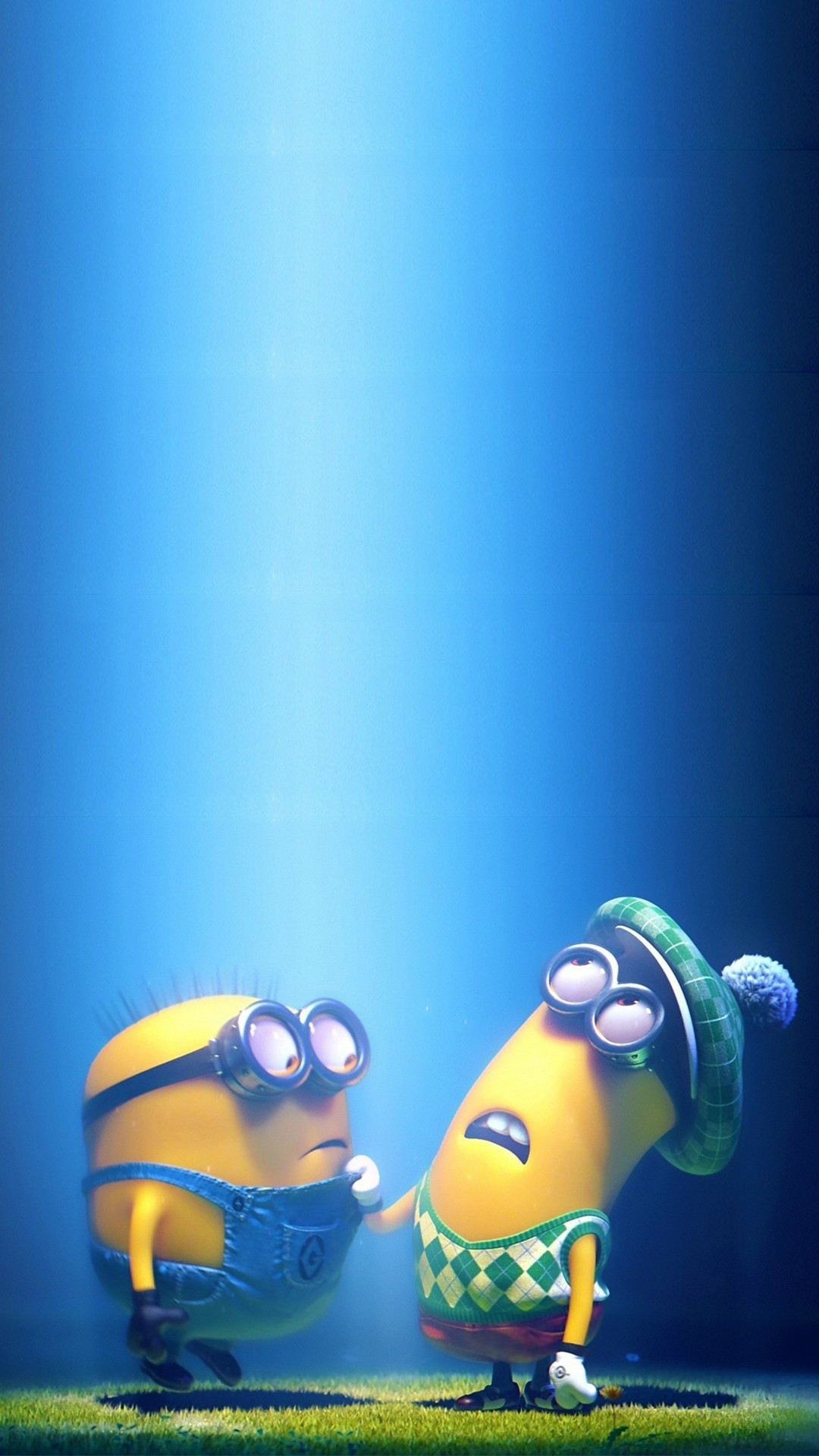 2014 Halloween minions iphone 6 plus wallpaper – blue sky, Despicable Me # iphone #