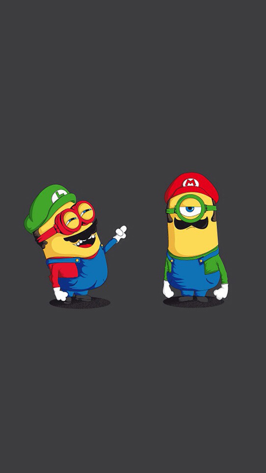 Funny Mario And Luigi Minions HD Wallpaper iPhone 6 plus