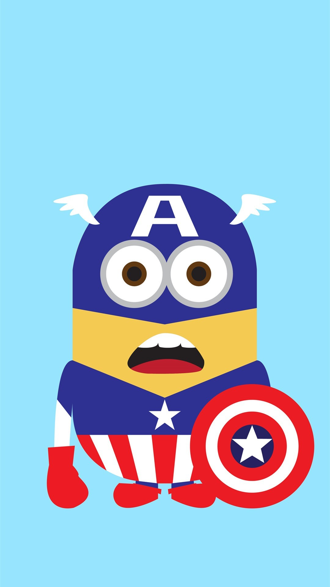 Despicable Me inspired Captain America minion iphone 6 plus wallpaper for  2014 Halloween