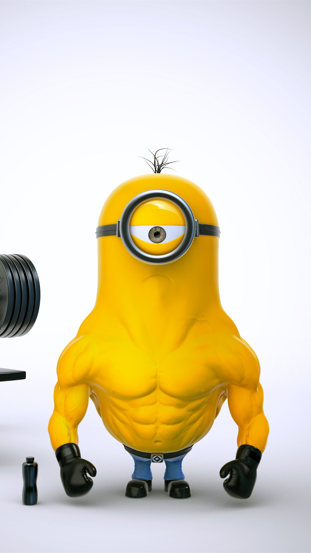Minion-Muscle-iPhone-3Wallpapers-Parallax