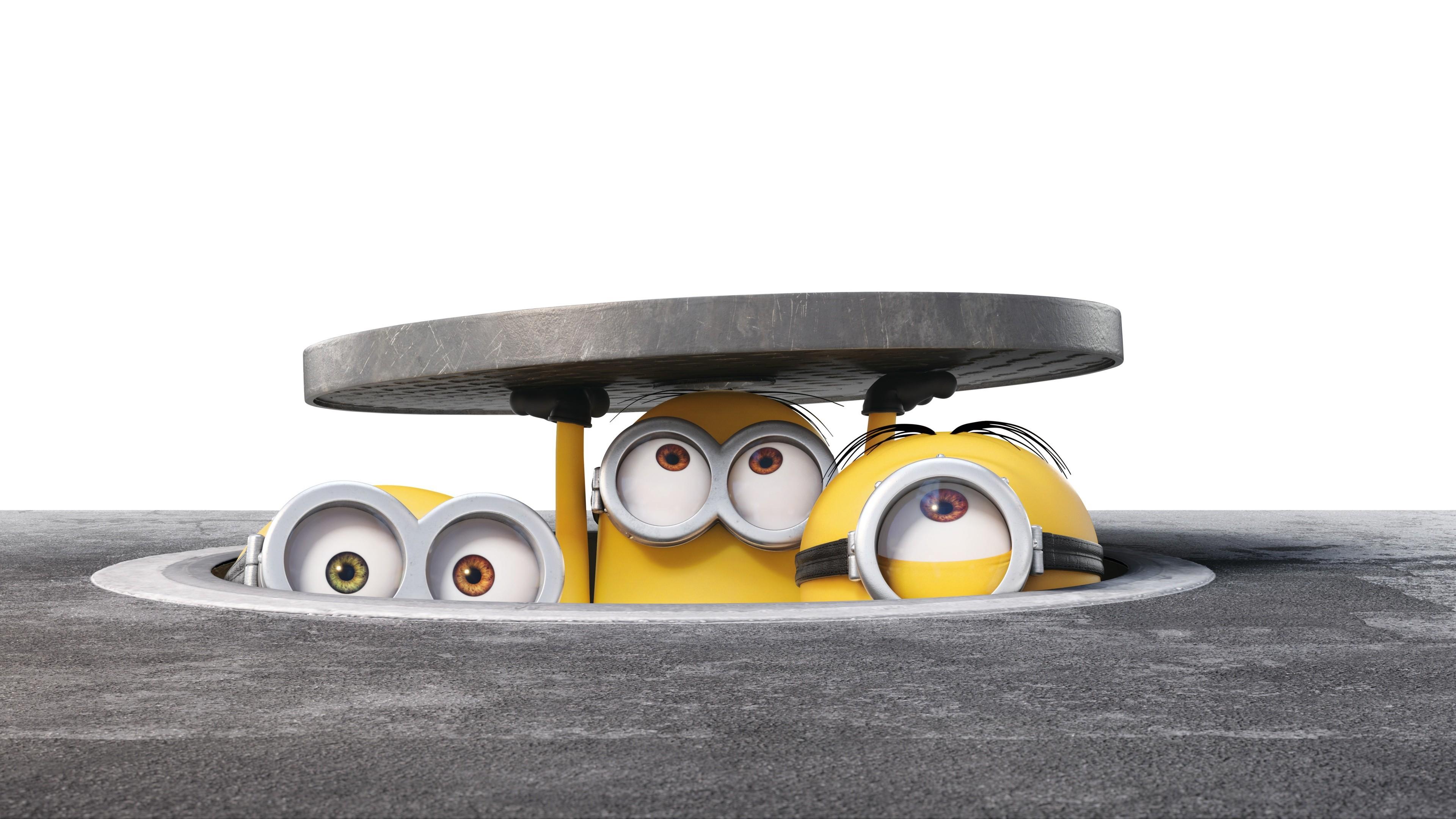 HD Background New Cute Minions Hiding Bob Stuart Kevin Wallpaper .