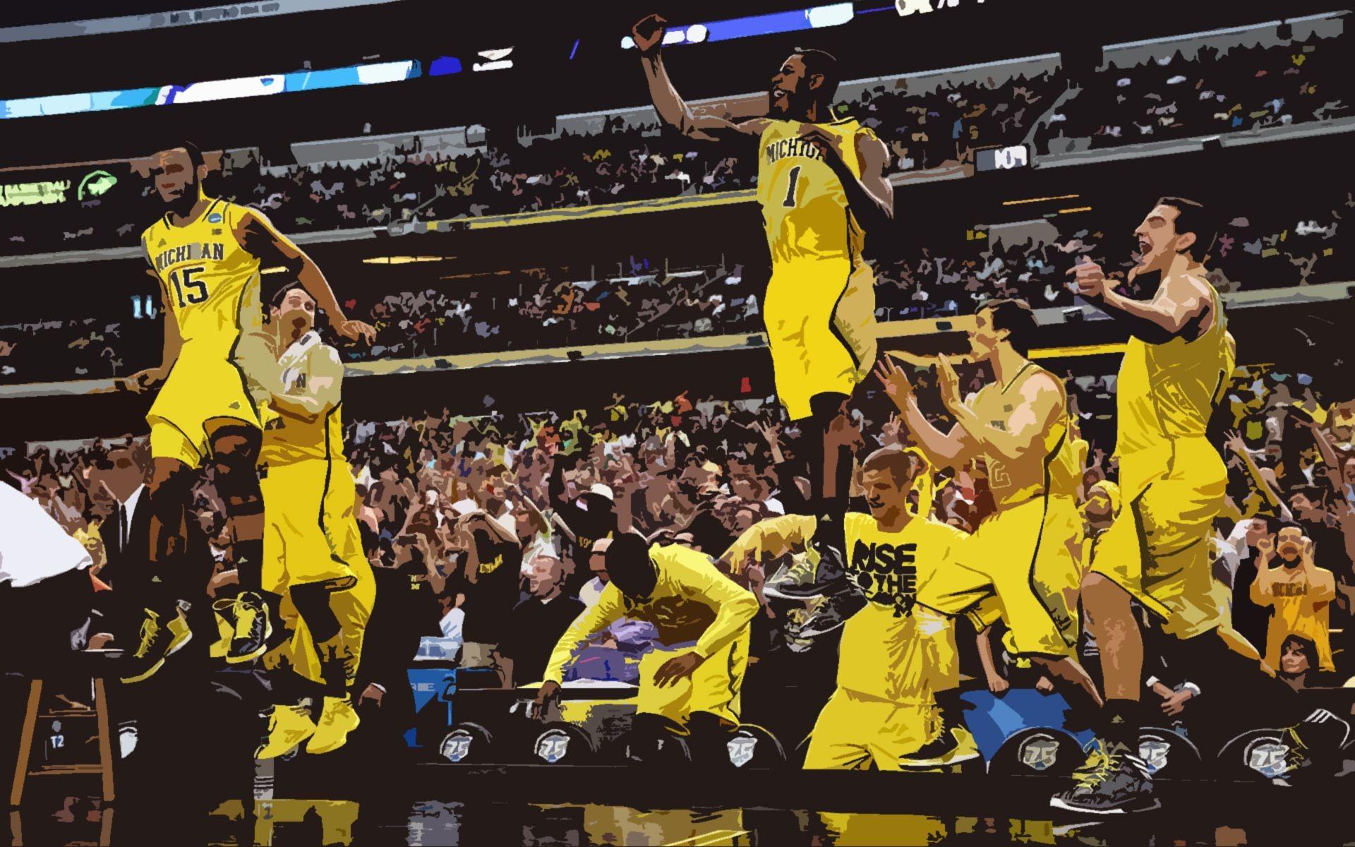 Michigan Basketball Backgrounds 2013-14 | mgoblog