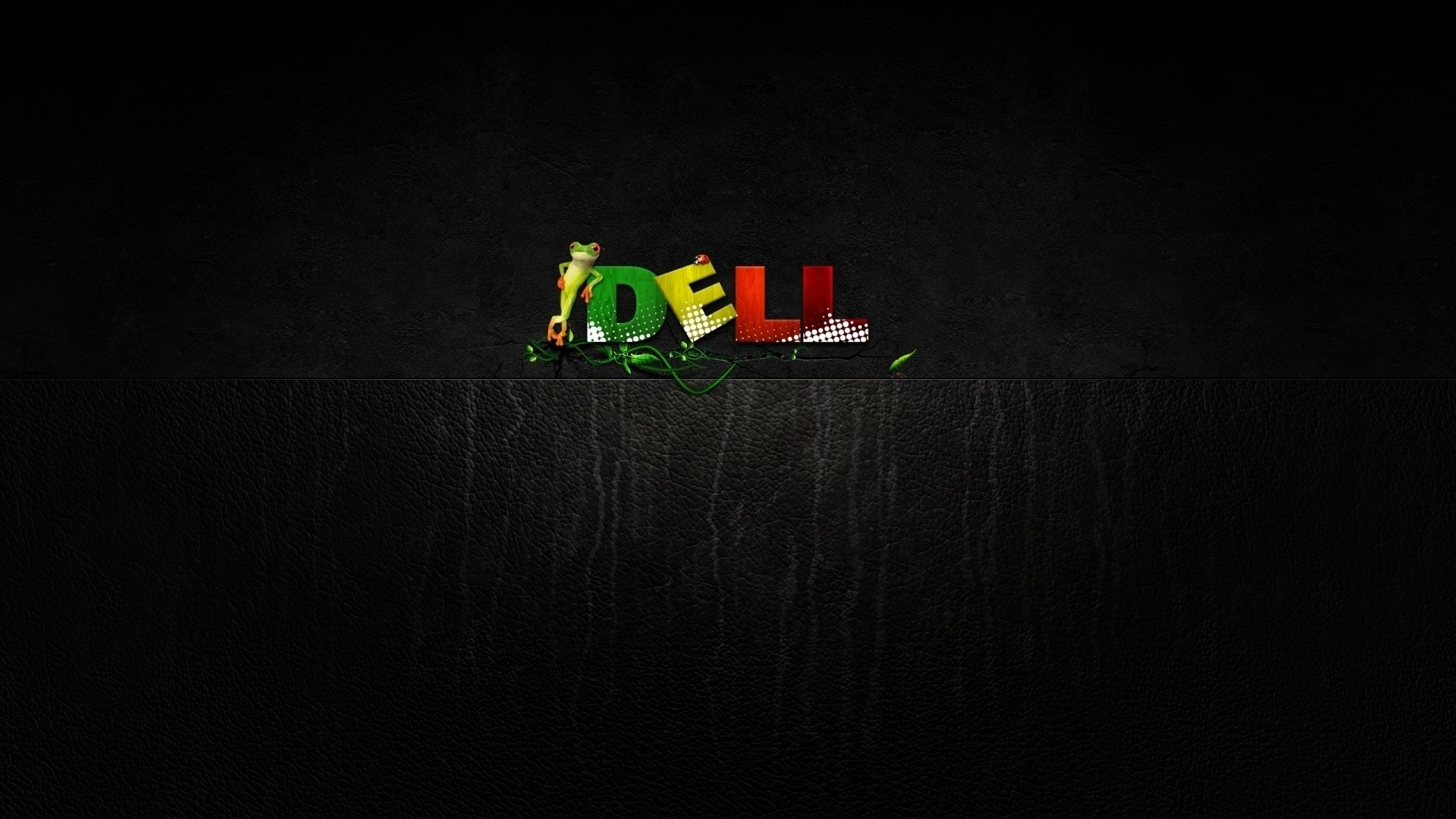 Preview wallpaper dell, company, computers, frog, green, yellow, red  1920×1080