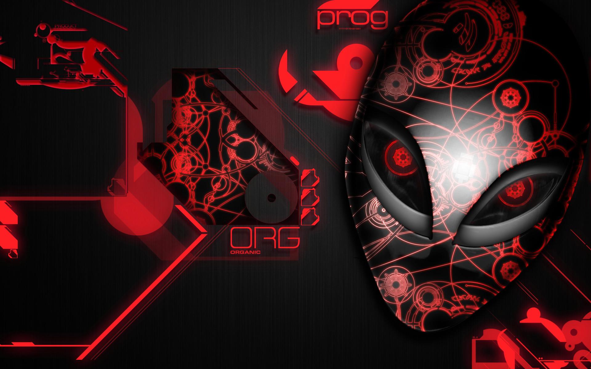 Alienware Desktop Background Red Organic Design 1920×1200