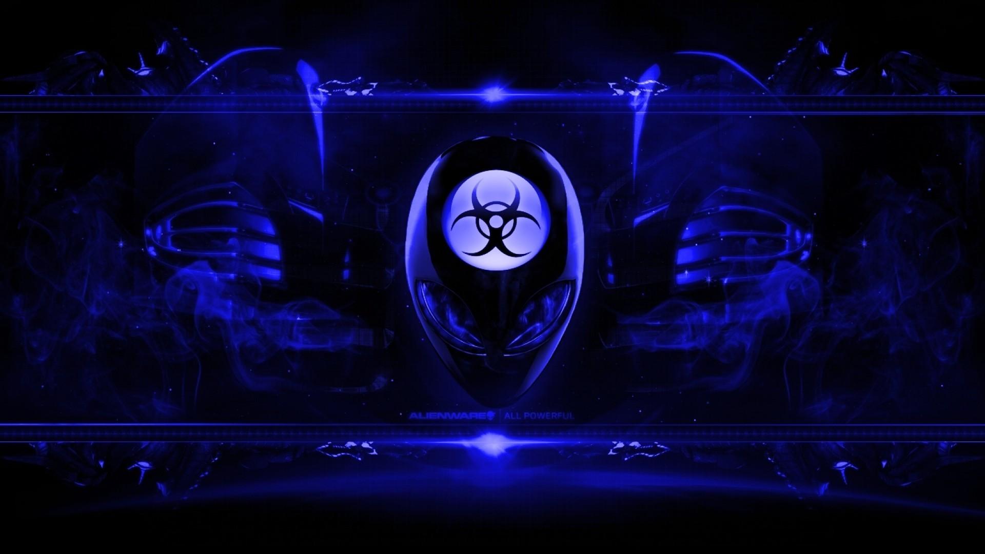 Alienware Desktop Background Radioactive Blue 1920×1080