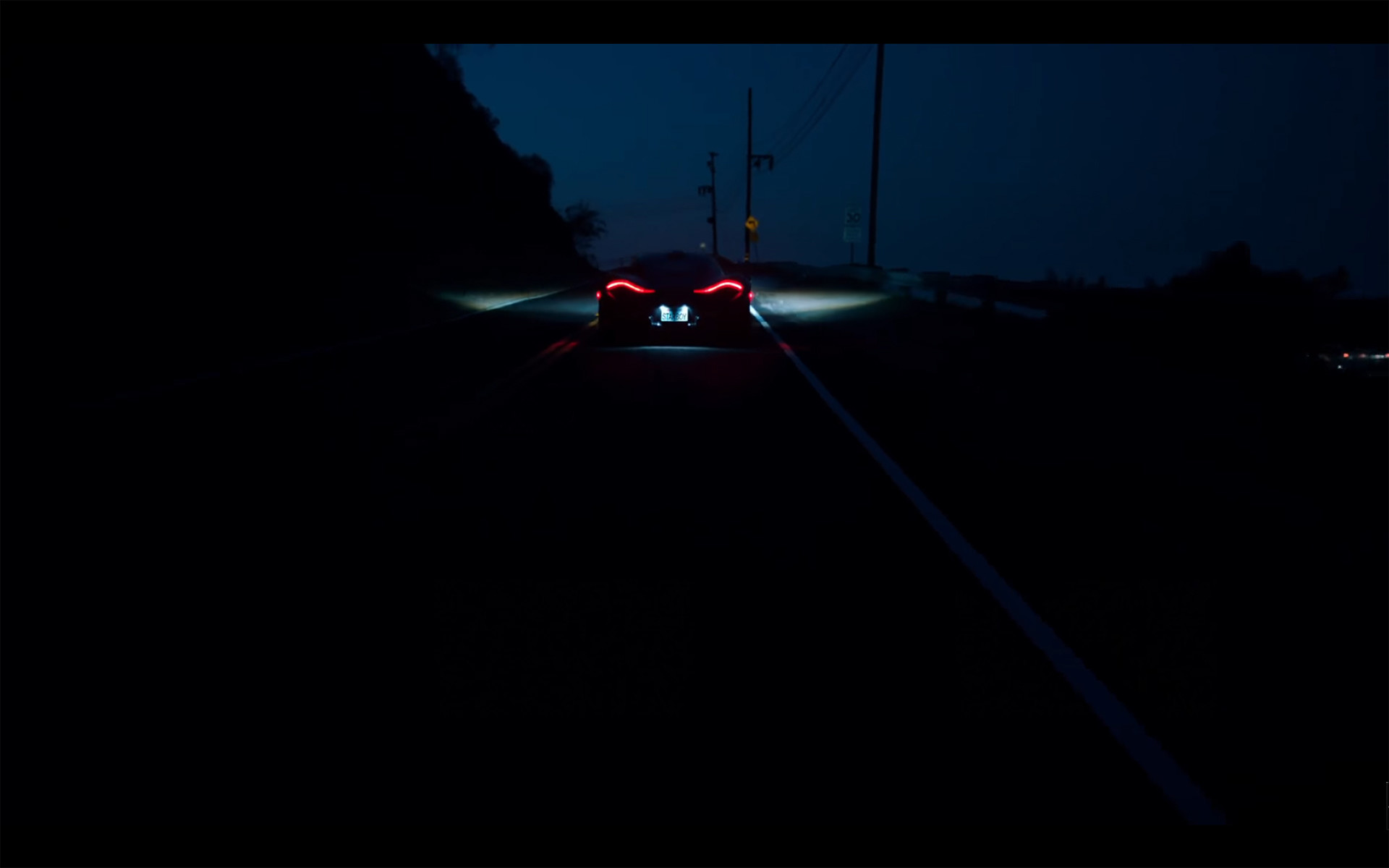 Starboy – The Weeknd – McLaren P1 – driving roads hills – go up