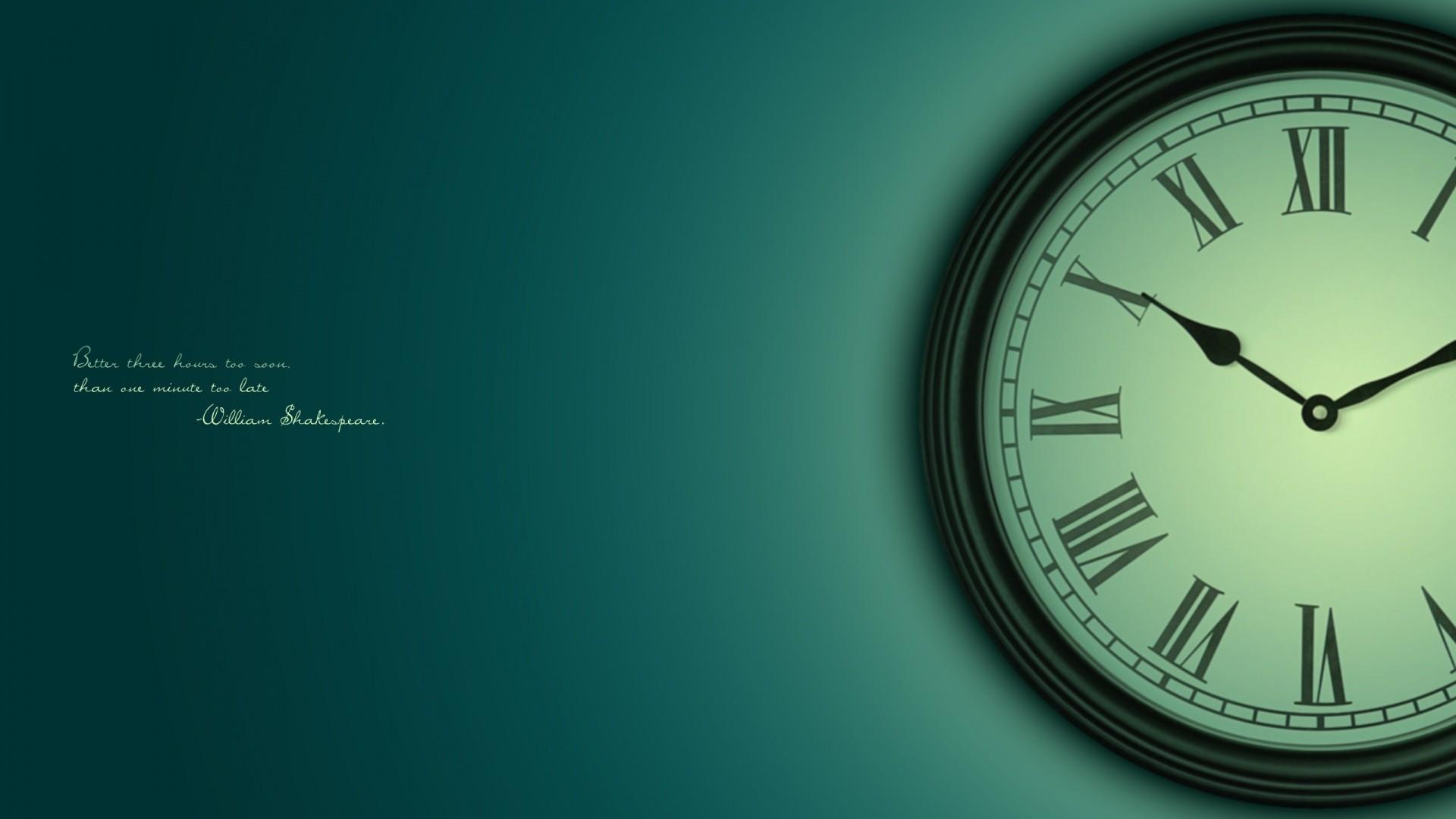 Best Quote Wall Clock Wallpaper HD
