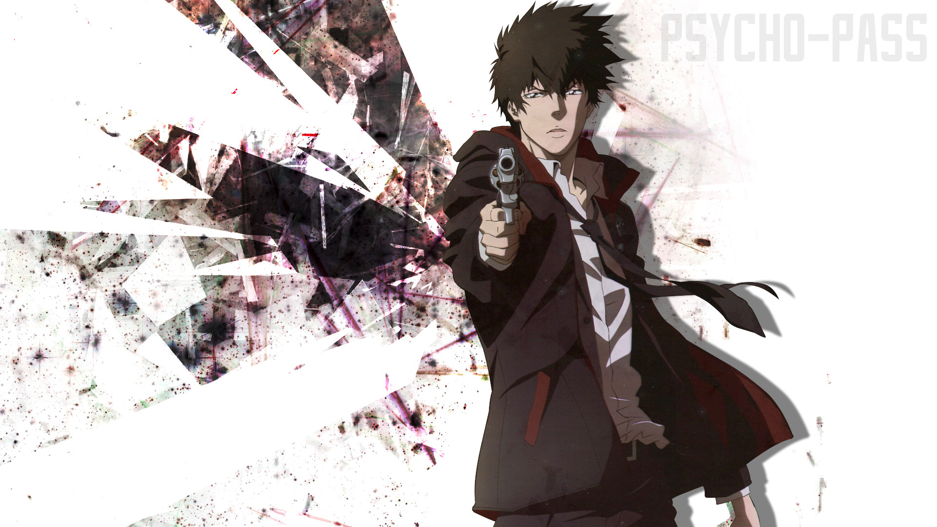 Anime – Psycho-Pass Shinya Kogami Anime Bakgrund