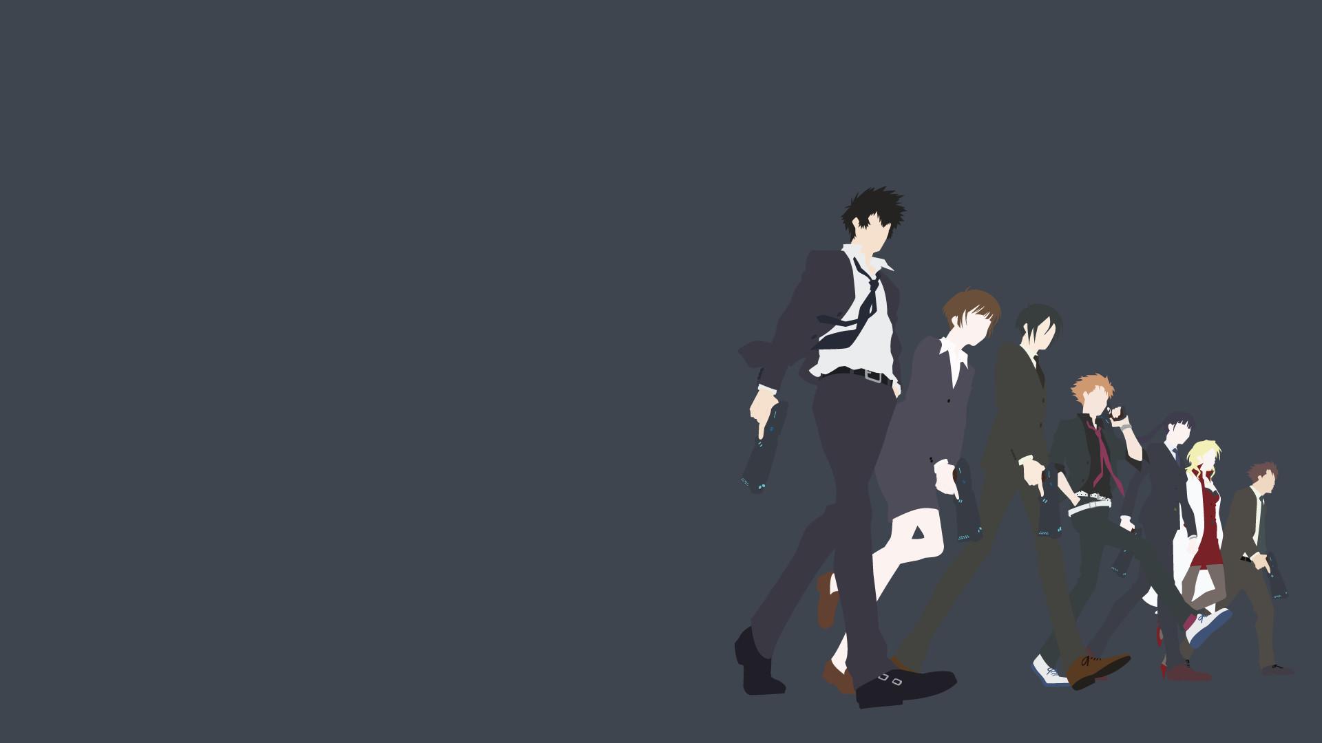 Anime Psycho Pass Kougami Shinya Tsunemori Akane Karanomori Shion
