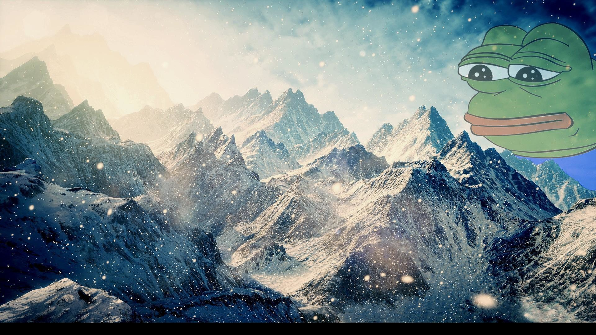 pepe snowy mountains.jpg, …