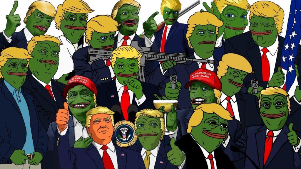 illustration gun cartoon Donald Trump memes USA Pepe meme comics North  America politics freedom Sadfrog Kek