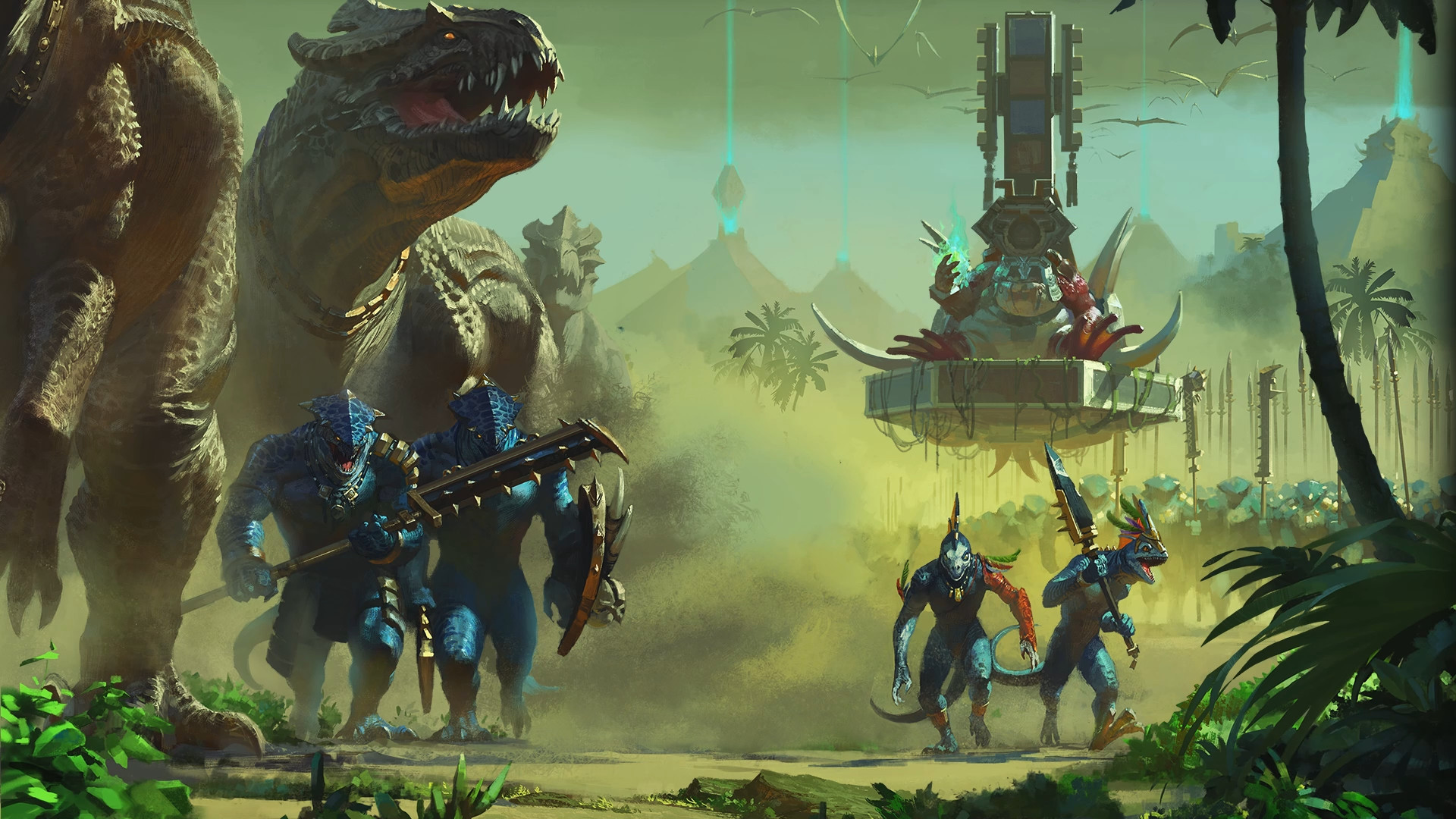 Warhammer2Cleaned up the Lizardmen loading screen for those of you that  would like a wallpaper!
