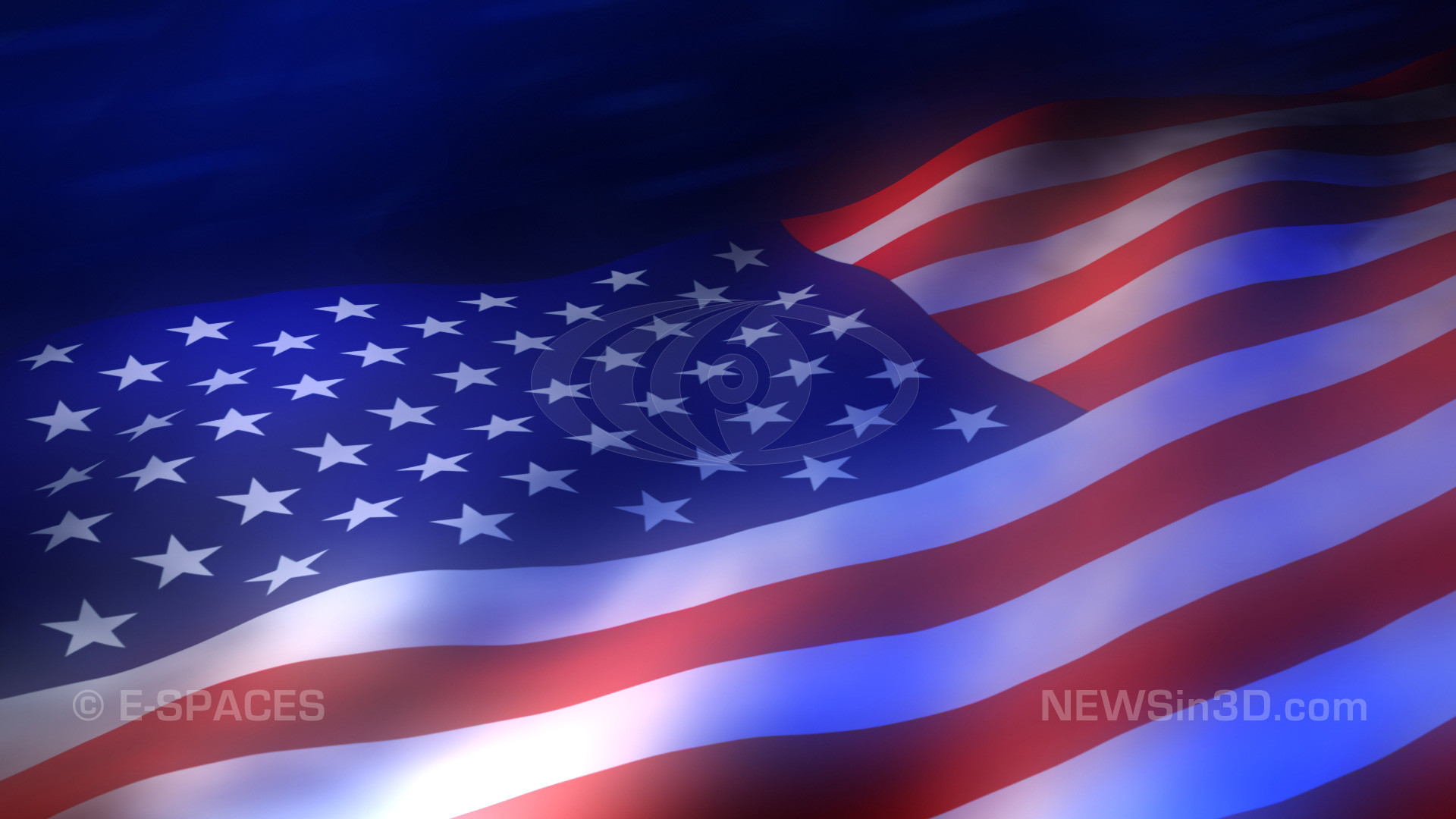 American flag animated background high definition preview still