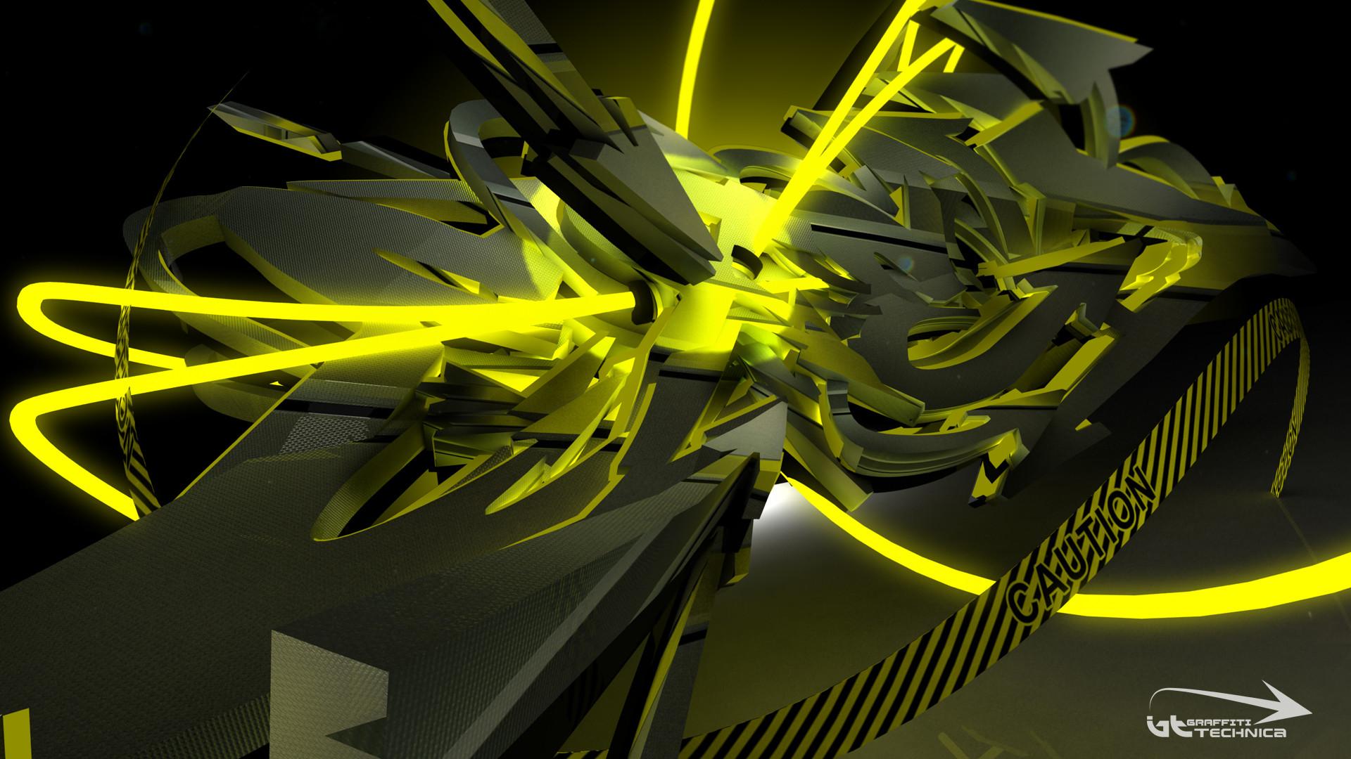 Desktop Graffiti Neon Tron Wallpaper and make this wallpaper for