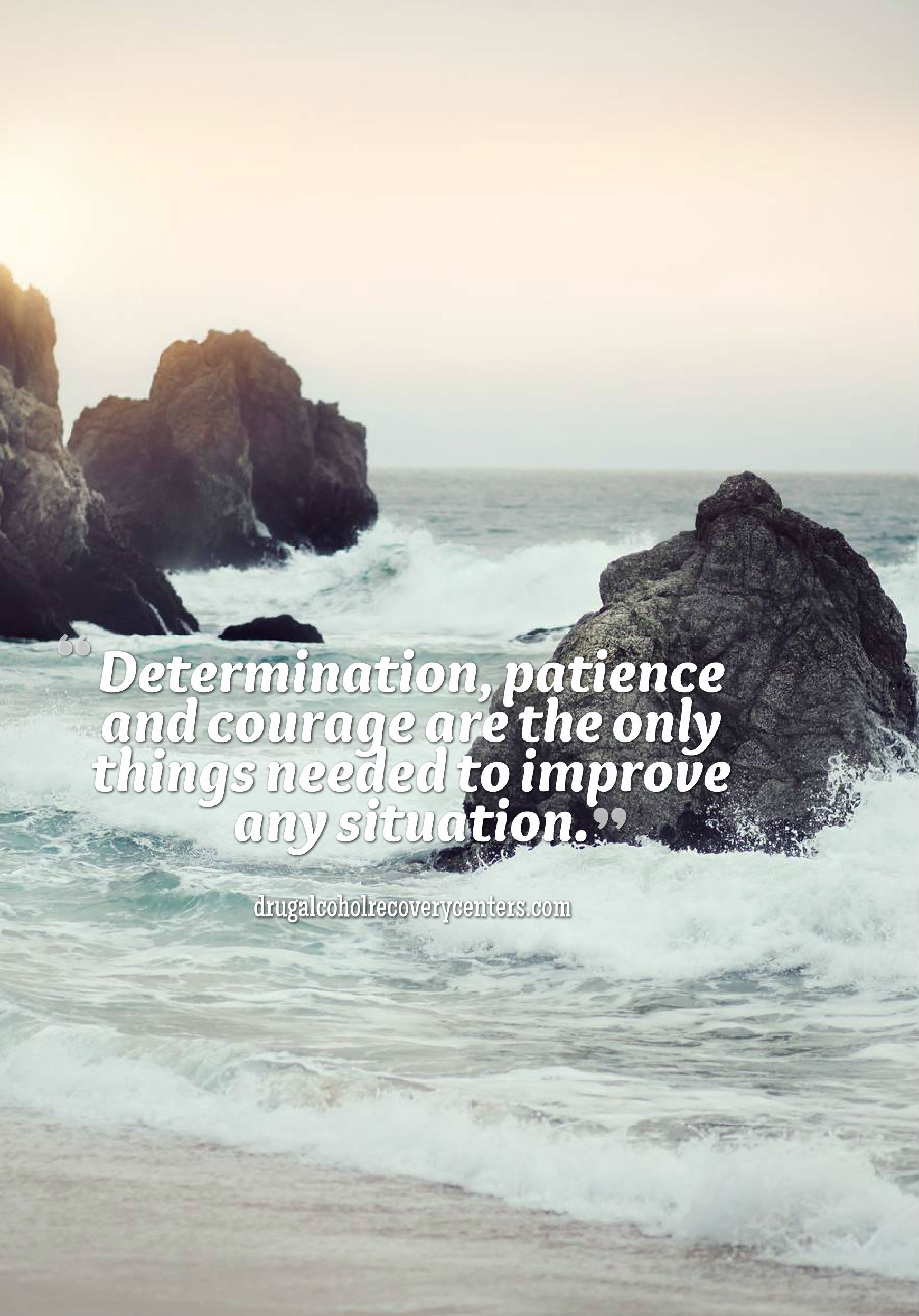 Motivational Quote: Determination, patience, and courage, that's all you  need! Follow · Iphone 6 WallpaperIphone …