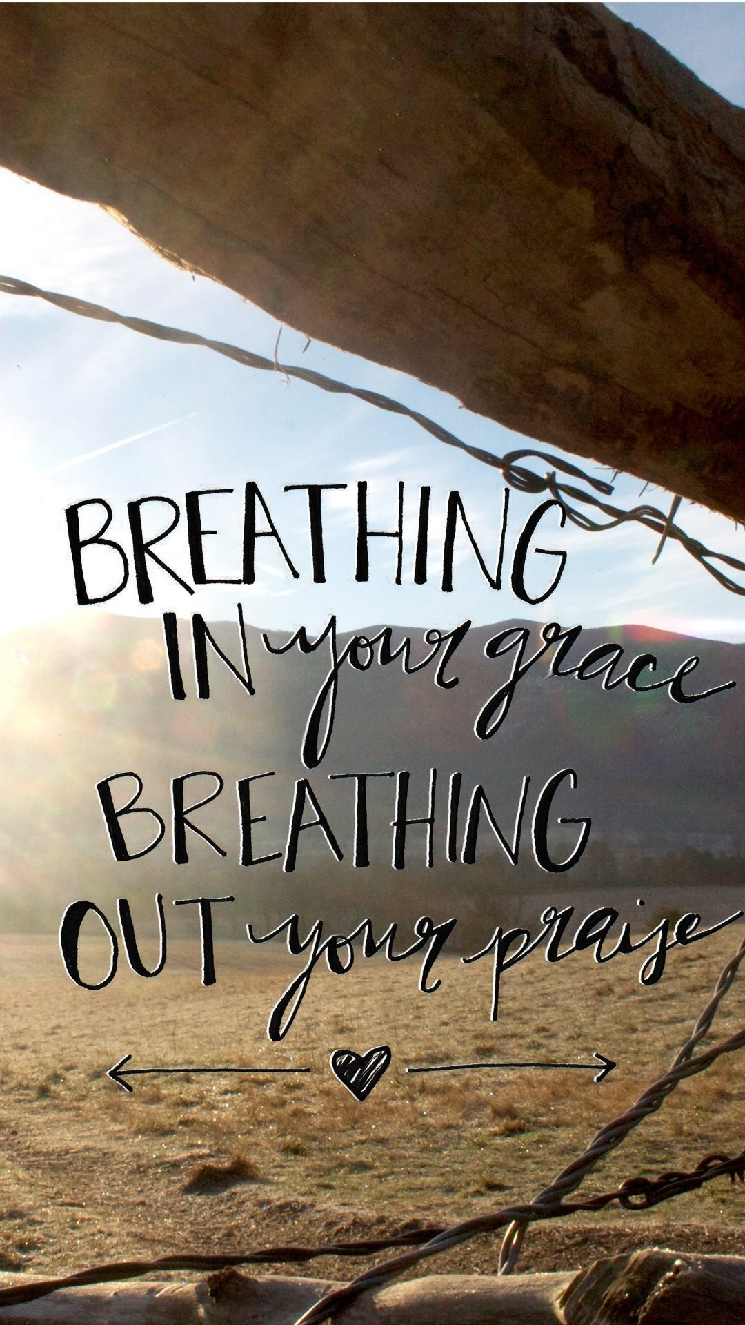 Breathing in Your Grace Breathing Out Your Praise Colorful Religion Wisdom  Motivating Christian HD iPhone 6 plus Wallpaper