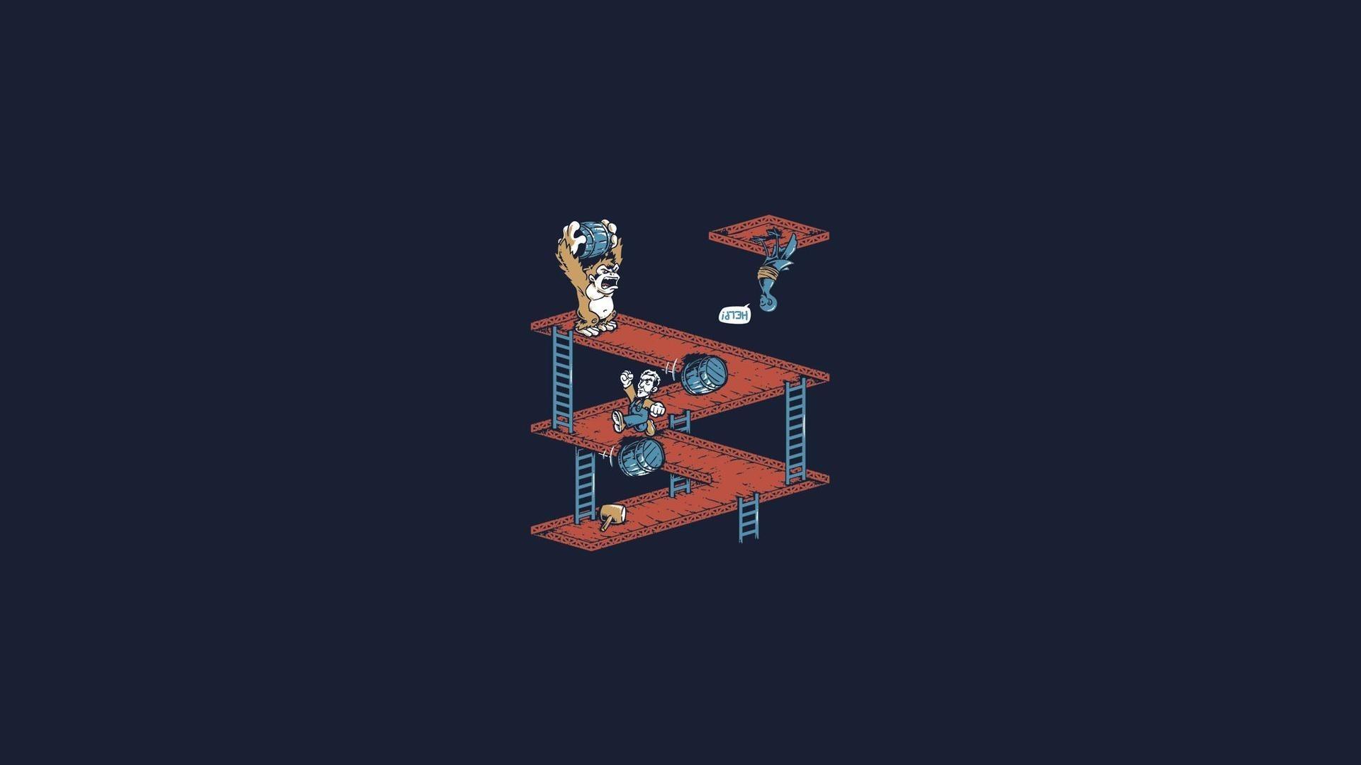 Donkey Kong Game Minimalism