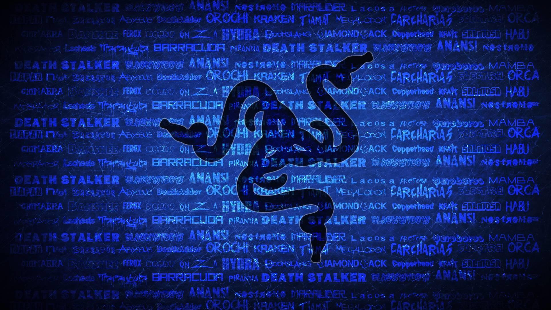 … Wallpapers For > Razer Wallpaper Blue