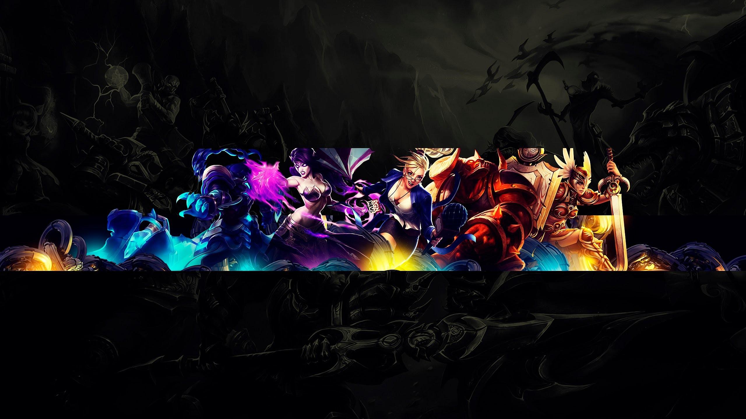 Speed Art – Free Youtube Channel Art / Banner #7 (League of Legends) –  YouTube
