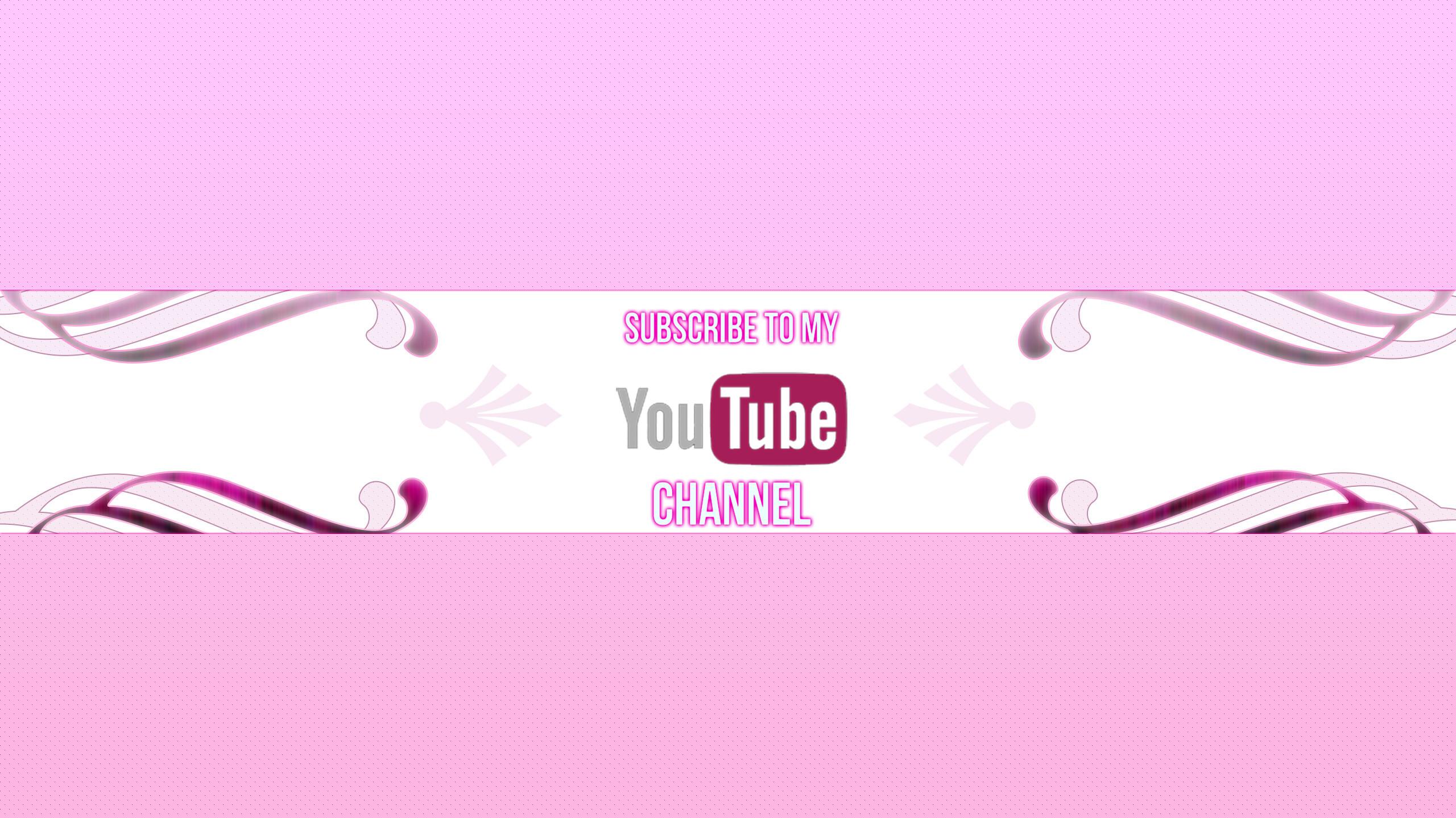 Girly Youtube Channel Art