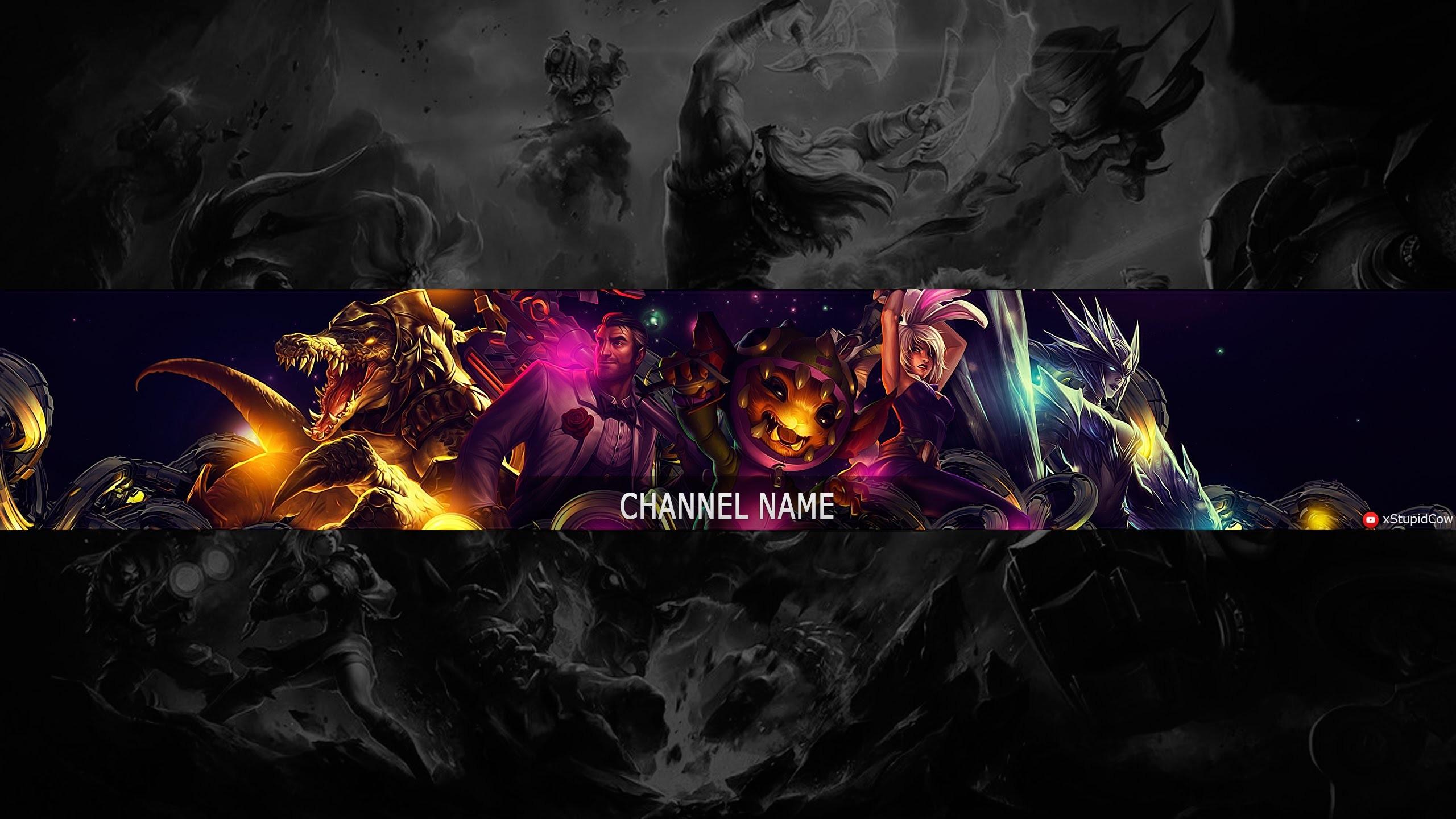 Speed Art – Free Youtube Channel Art / Banner #8 (League of Legends) –  YouTube