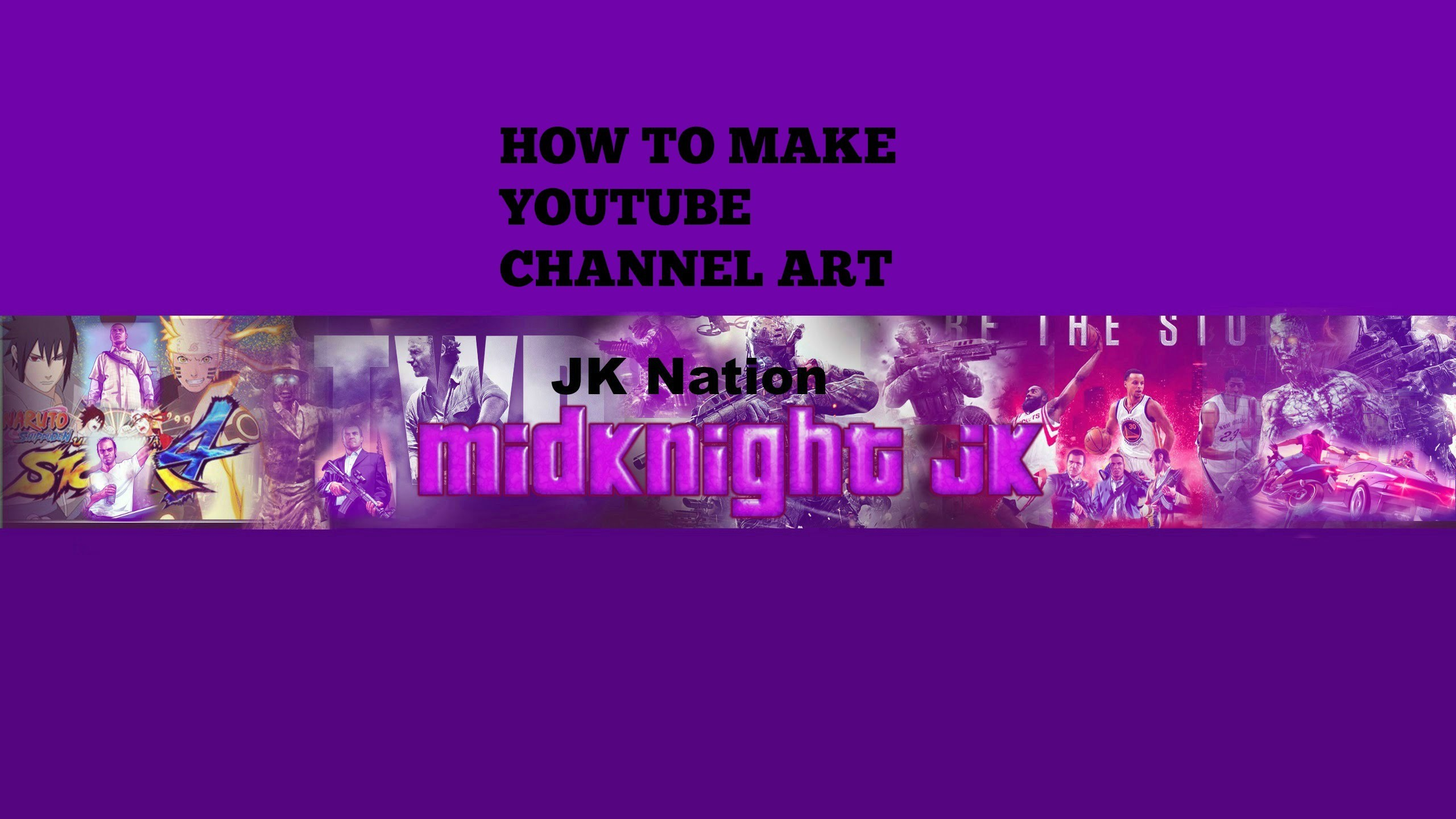 how to make cool Youtube channel art