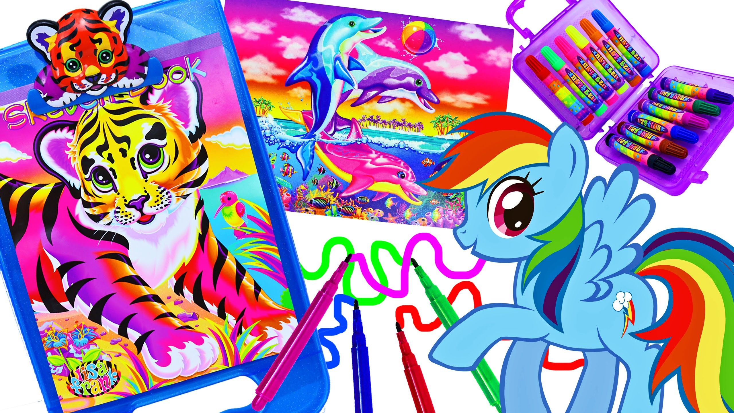 Lisa Frank Coloring Set Magic Pet Color Changing Imagine Ink My Little Pony  MLP Kids Coloring Books – YouTube
