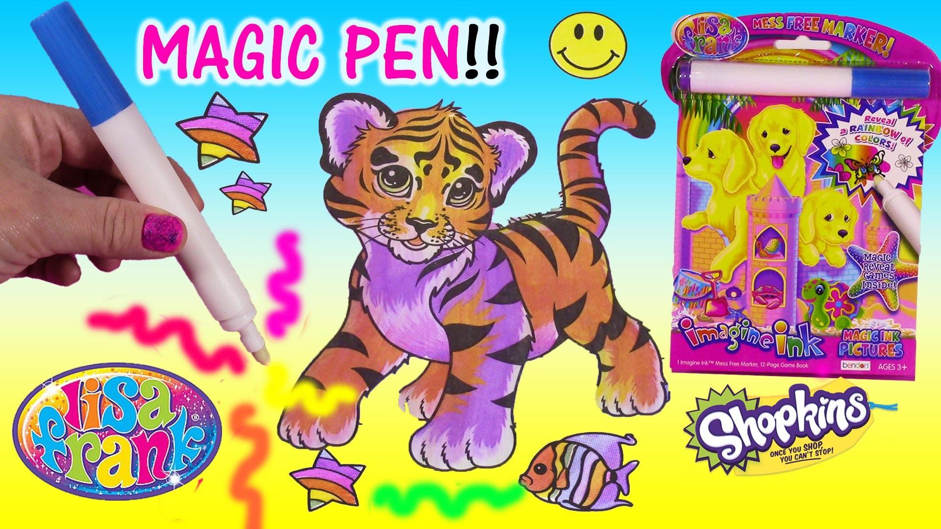 LISA FRANK Imagine Ink Rainbow Color MAGIC PEN Art Book! SHOPKINS Lip Gloss  Keychain! – YouTube