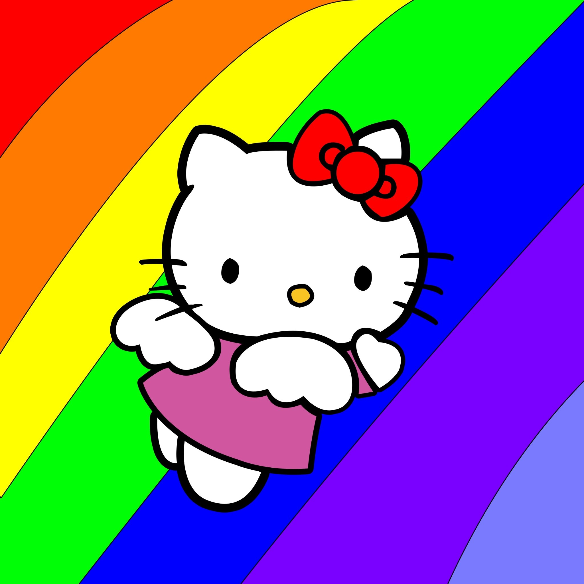 Colorful Hello Kitty – Tap to see more cute hello kitty wallpapers! –  @mobile9
