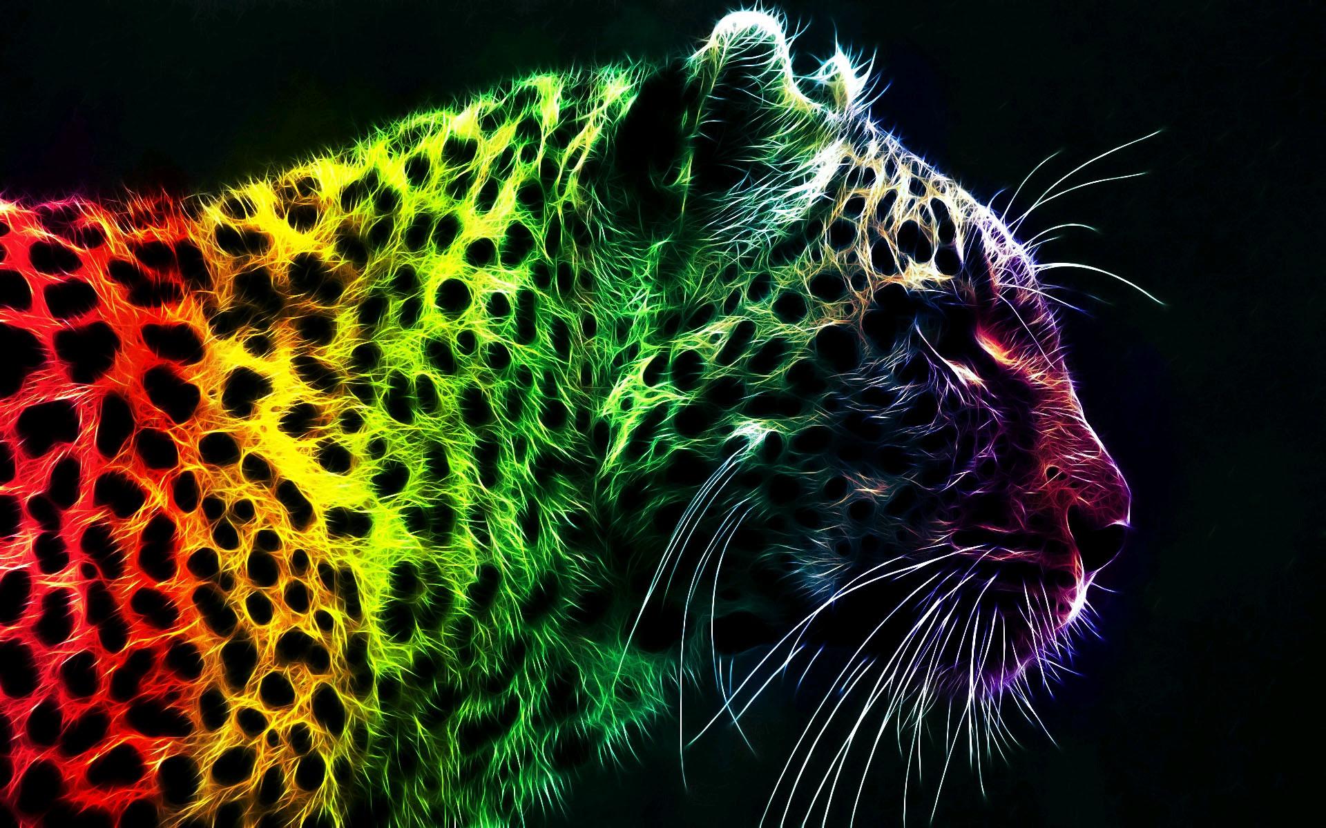 Colorful Leopard Backgrounds, wallpaper, Colorful Leopard Backgrounds .