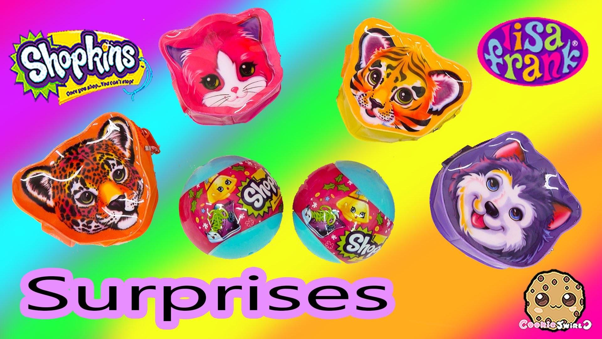 4 Lisa Frank Surprise Mini Bags + 2 Shopkins Season 3 Christmas Ornament  Blind Bag Balls – YouTube