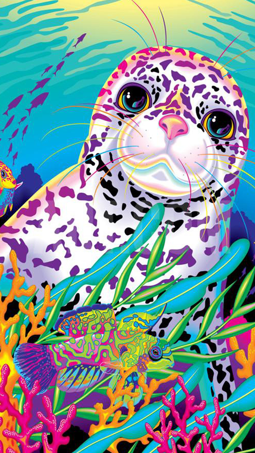 700 follower celebration Lisa Frank stock iPhone 6 and iPhone 6s wallpapers  Holy smokes, you