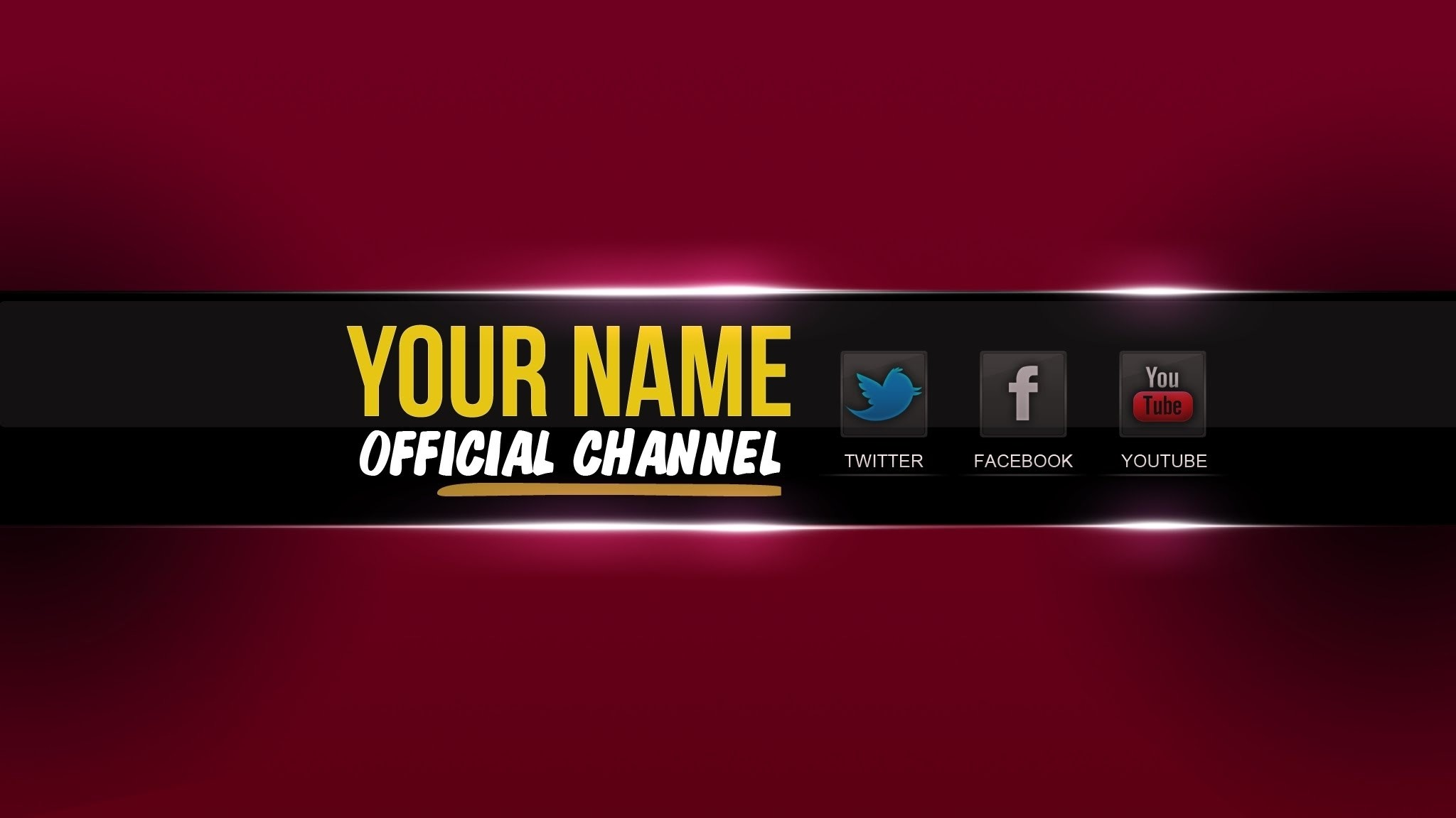 Youtube Banner Template Psd   Cyberuse for Banner For Youtube 3991