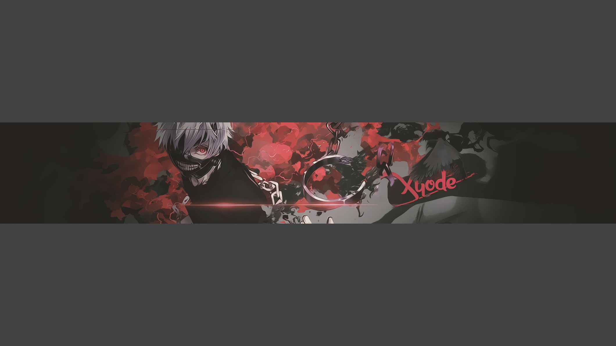… Kaneki Darkness – Youtube Banner by Shinzukette