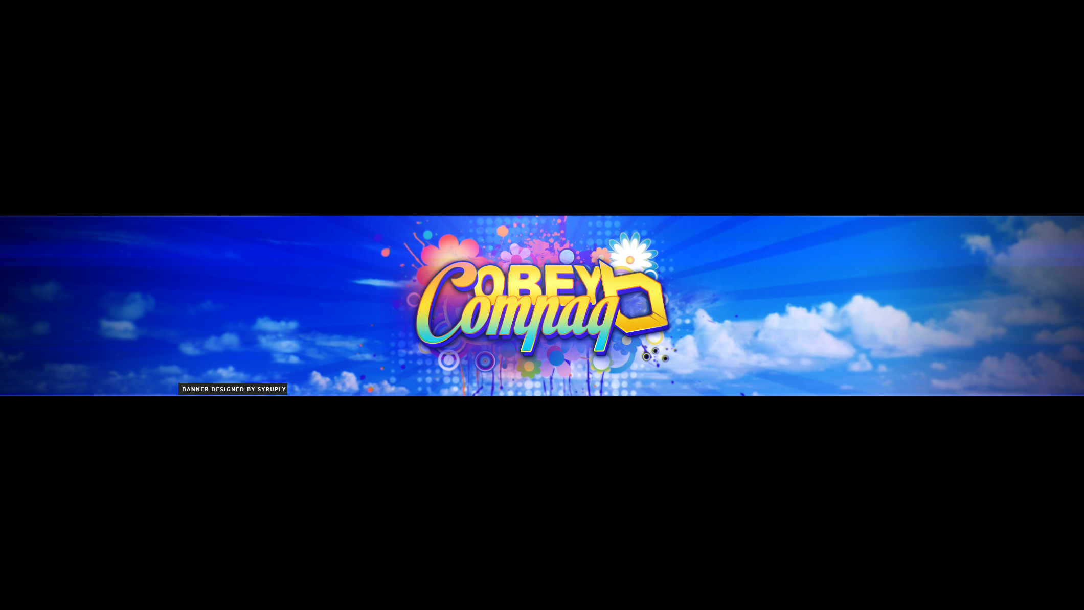 Obey Compaq YouTube Banner by Syruply Obey Compaq YouTube Banner by Syruply