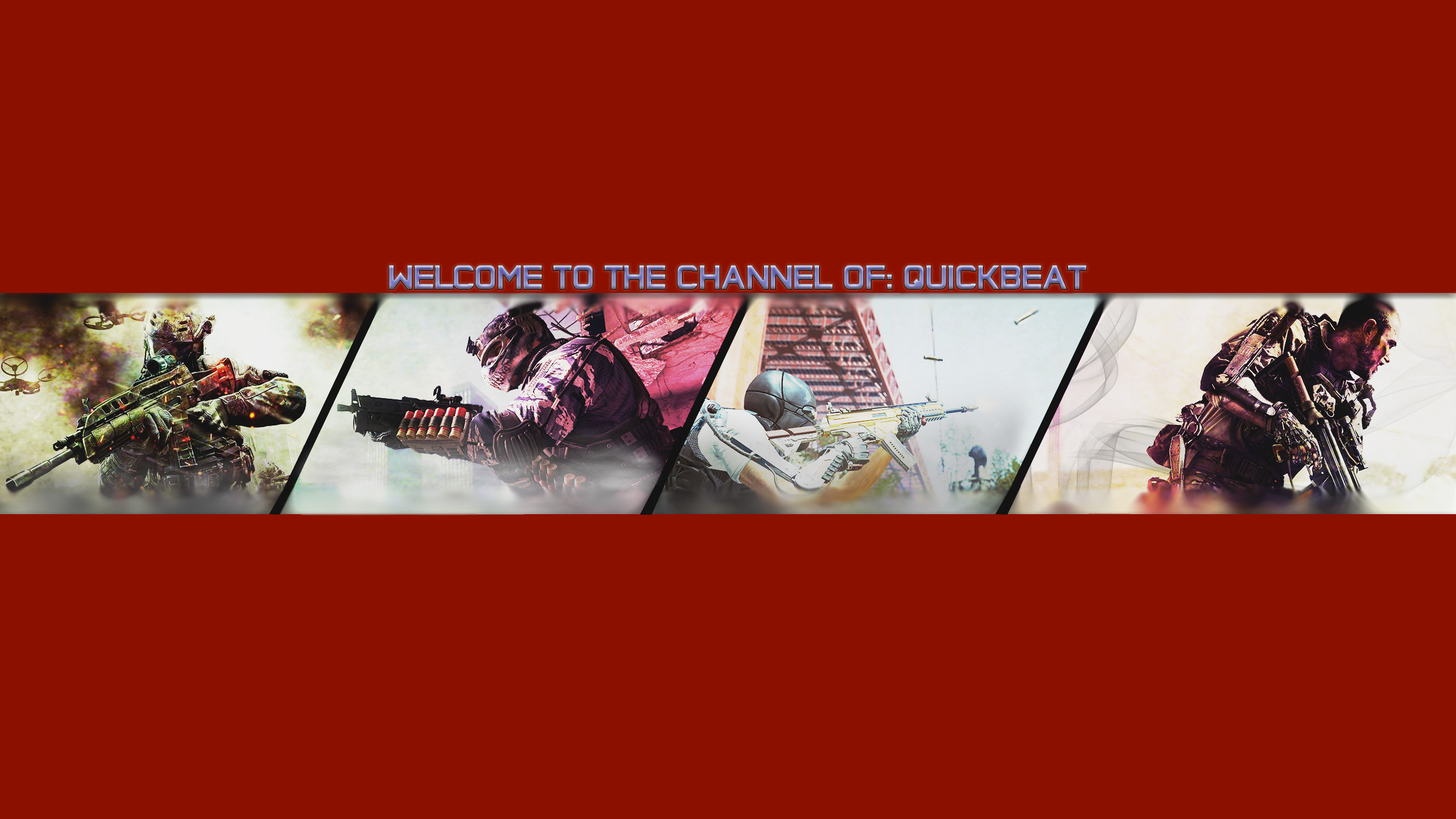 … Call of duty youtube banner by QuickBeat