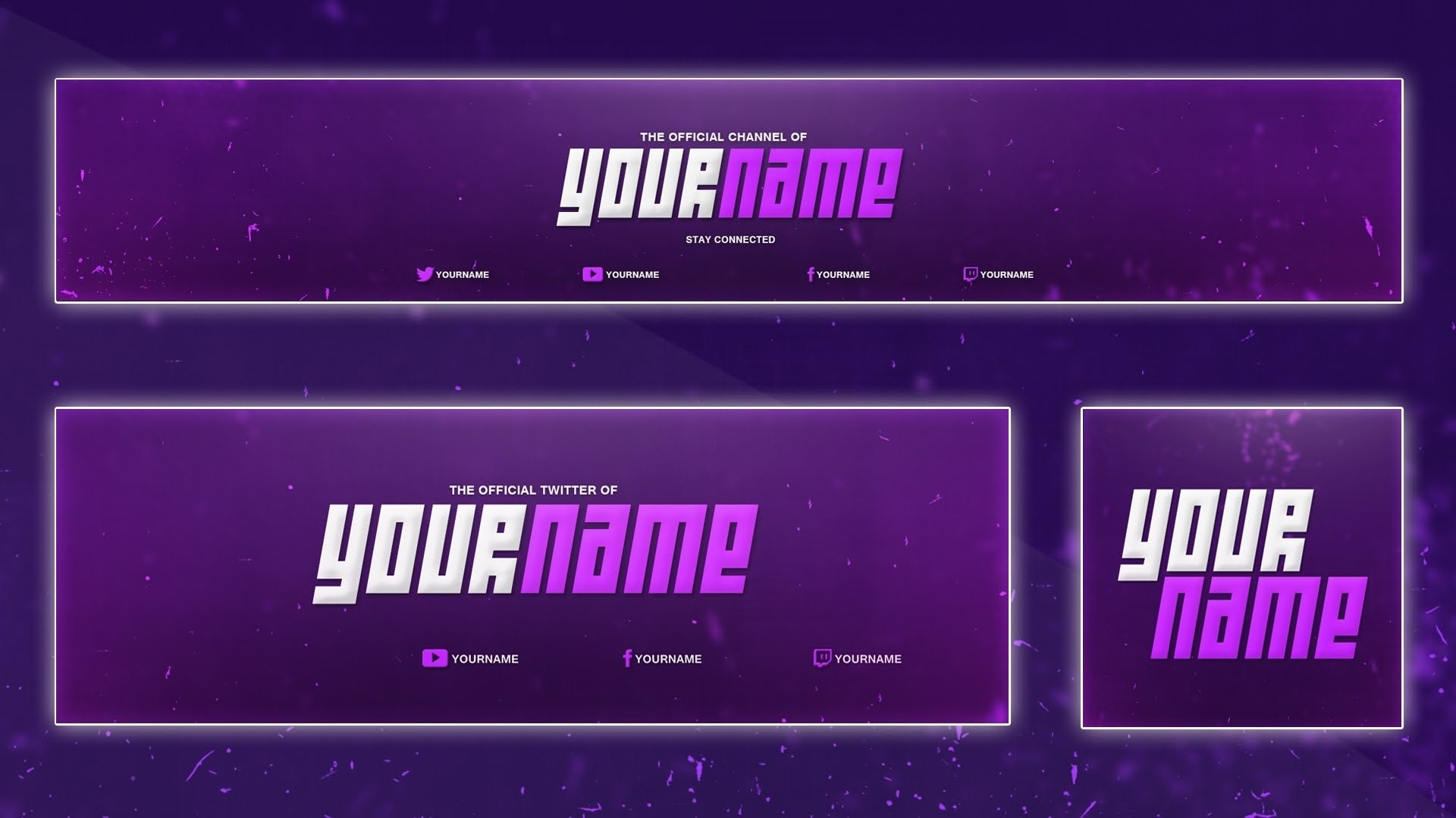 Cool Youtube Banner Template   Banner, Twitter Header, Avatar (Psd  pertaining to Cool