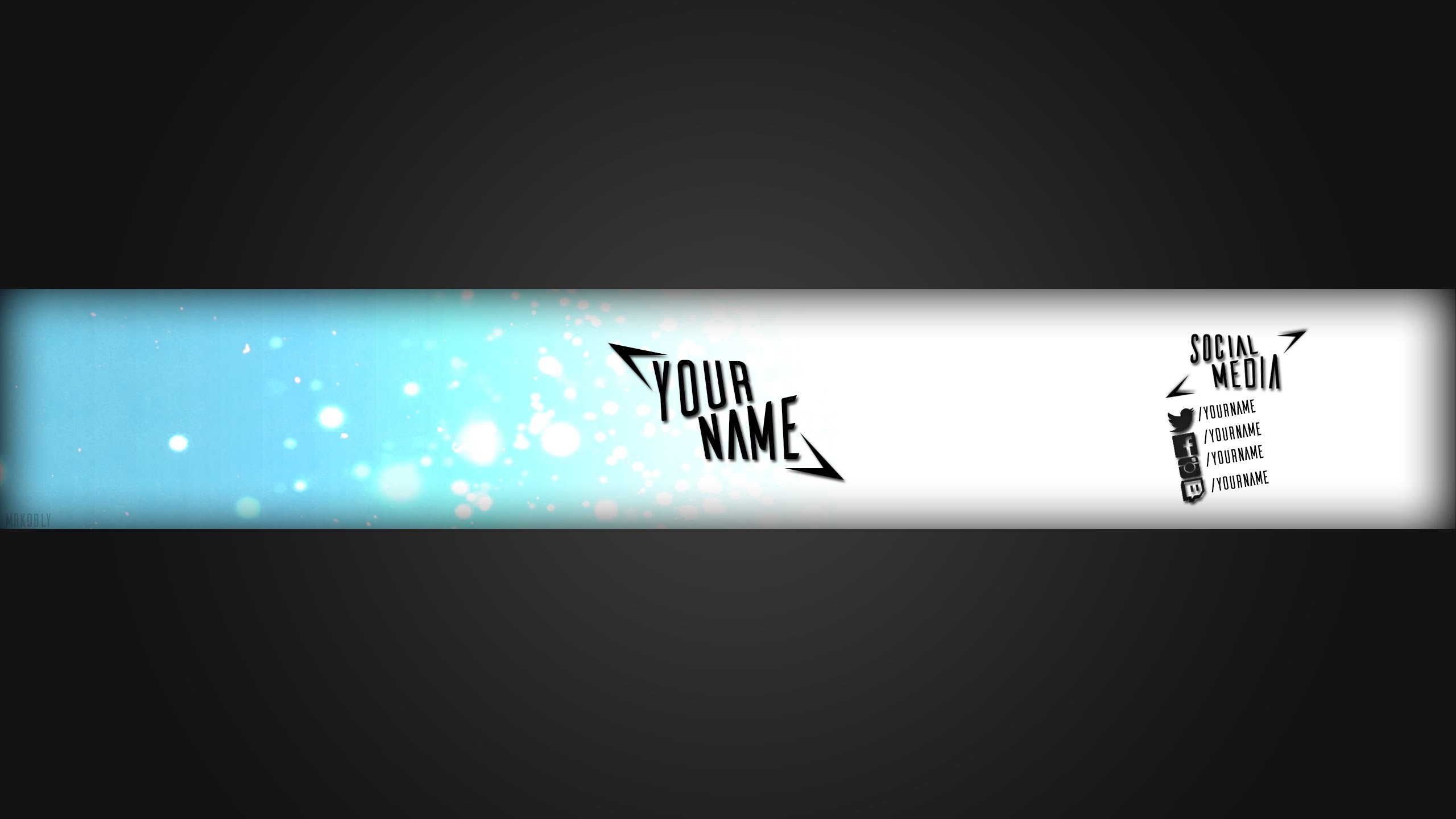 Youtube Banner Template   Photoshop CC   Free Download   Simple 2D – YouTube