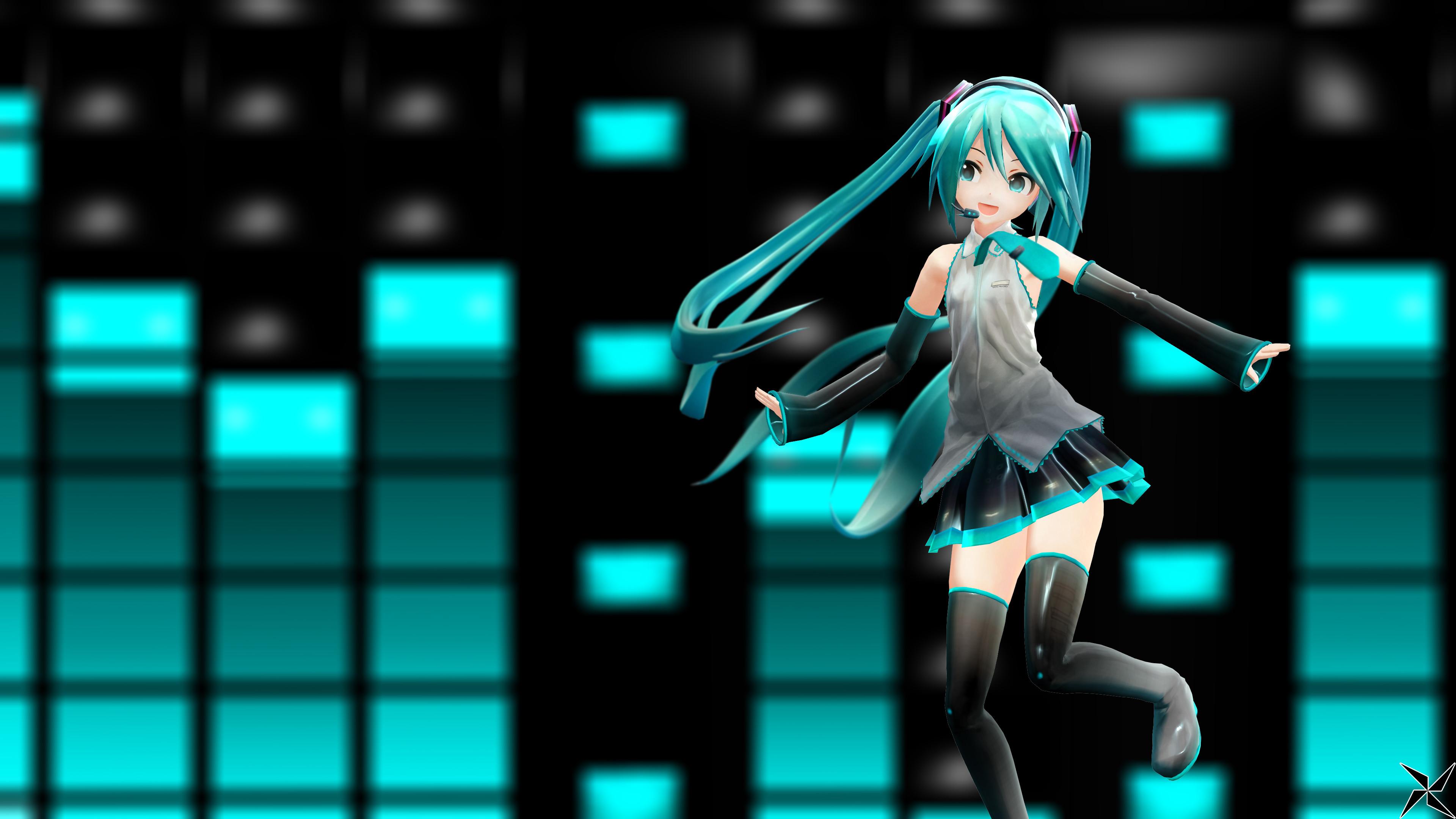 … MMD: Hatsune Miku – YouTube Banner (4K Wallpaper) by Suspeso