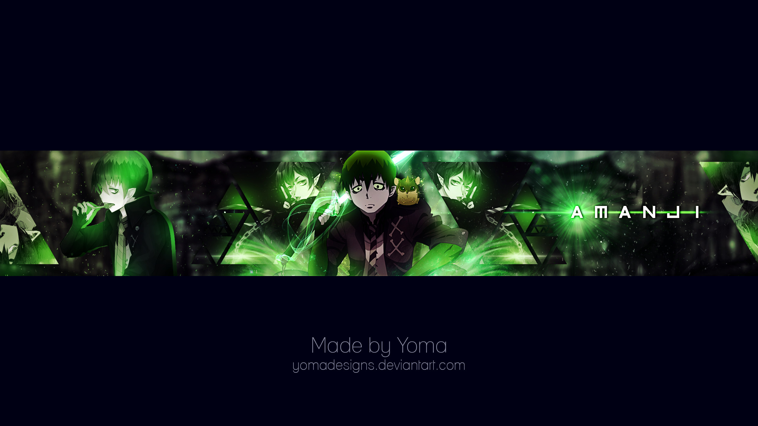 YouTube Banner Amanji by YomaDesigns YouTube Banner Amanji by YomaDesigns