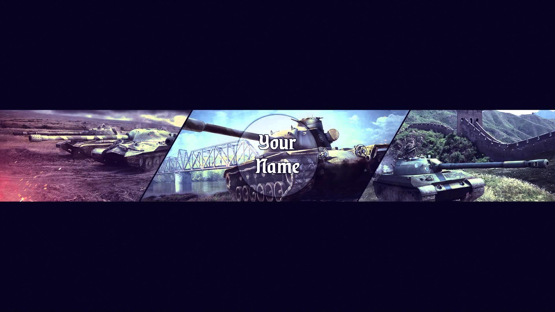 YouTube Banner Template#3 by Devil ART