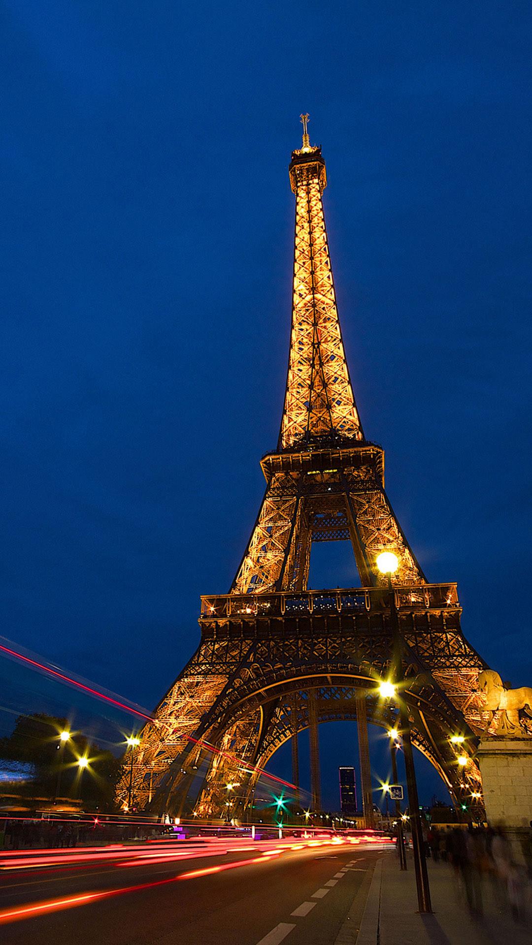 Eiffel Tower Lock Screen Night Android Wallpaper …