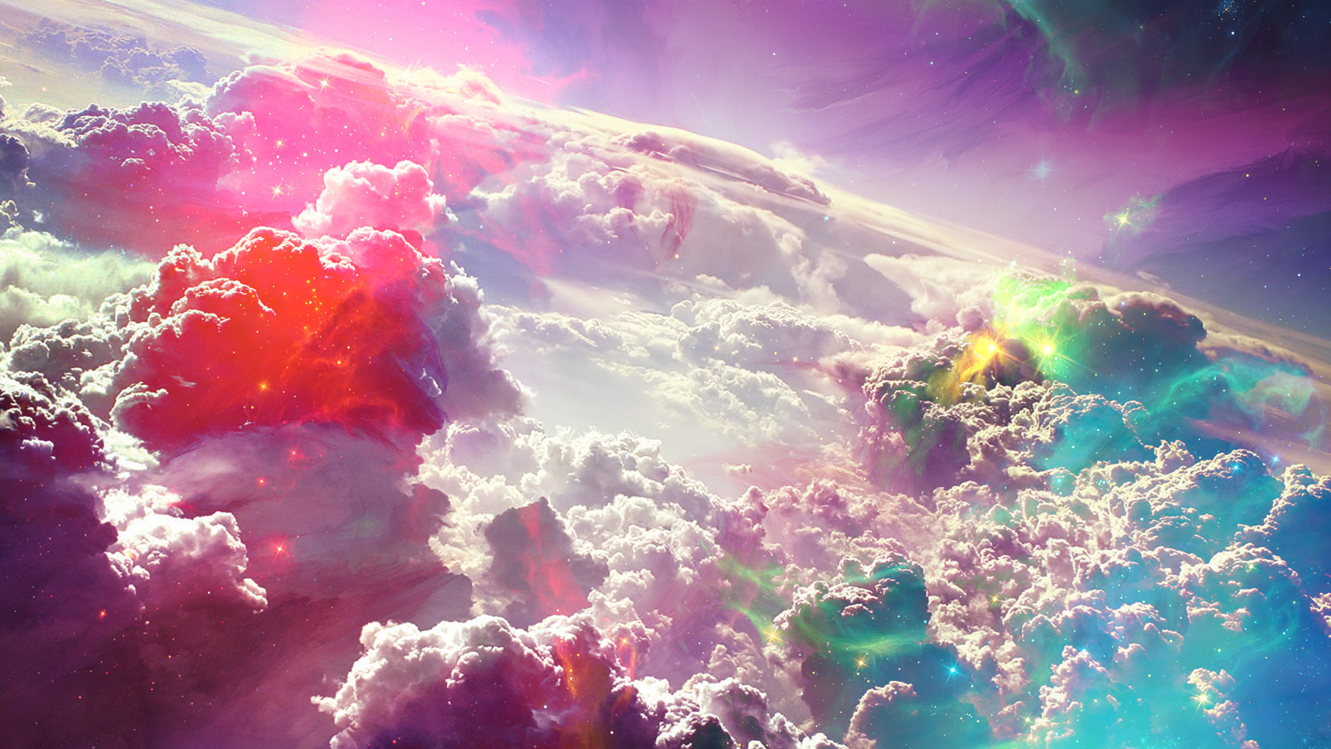 Colorful Fantasy Clouds Art HD Wallpaper – New HD Wallpapers