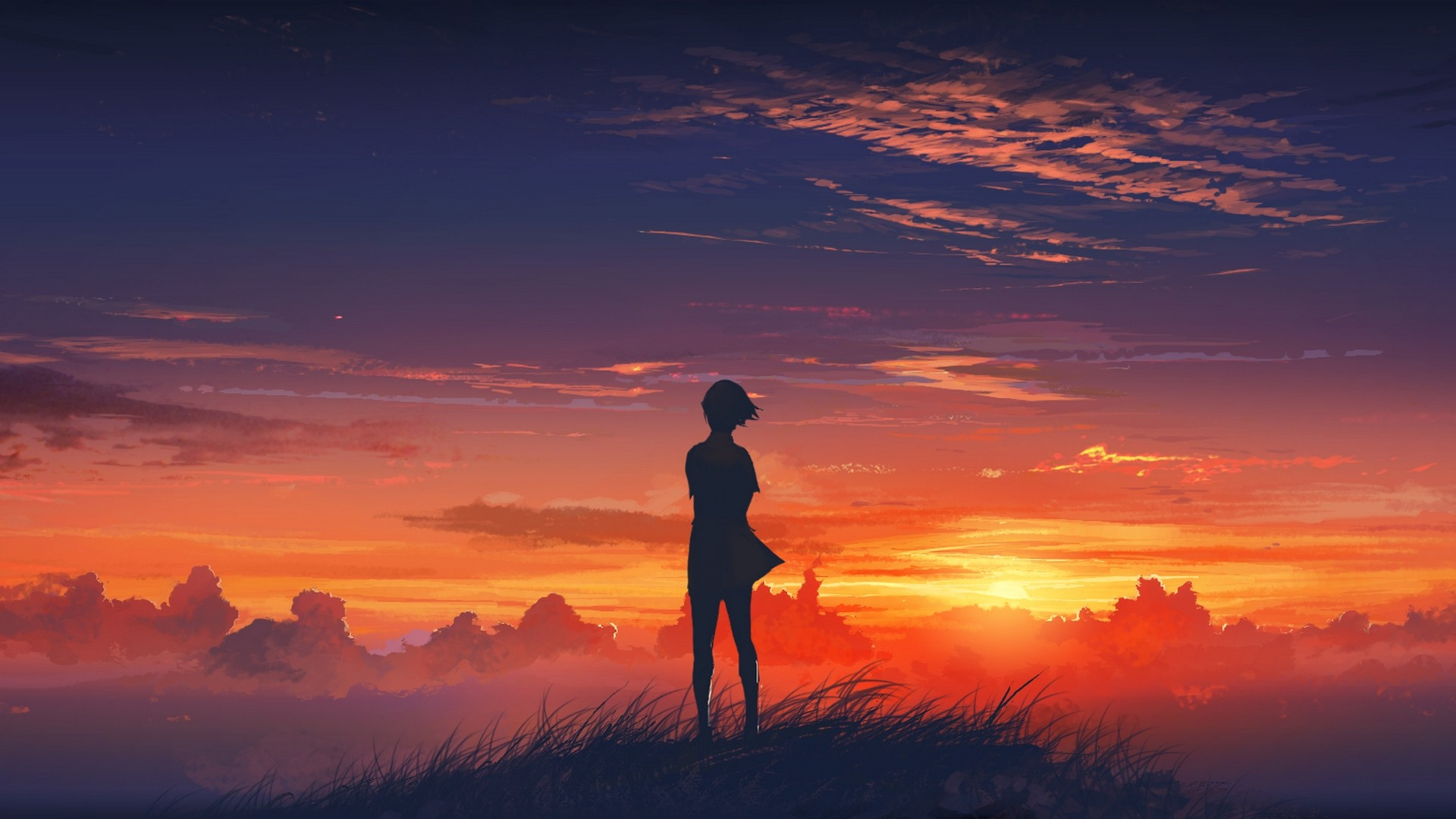 Always love a nice sunset type wallpaper …