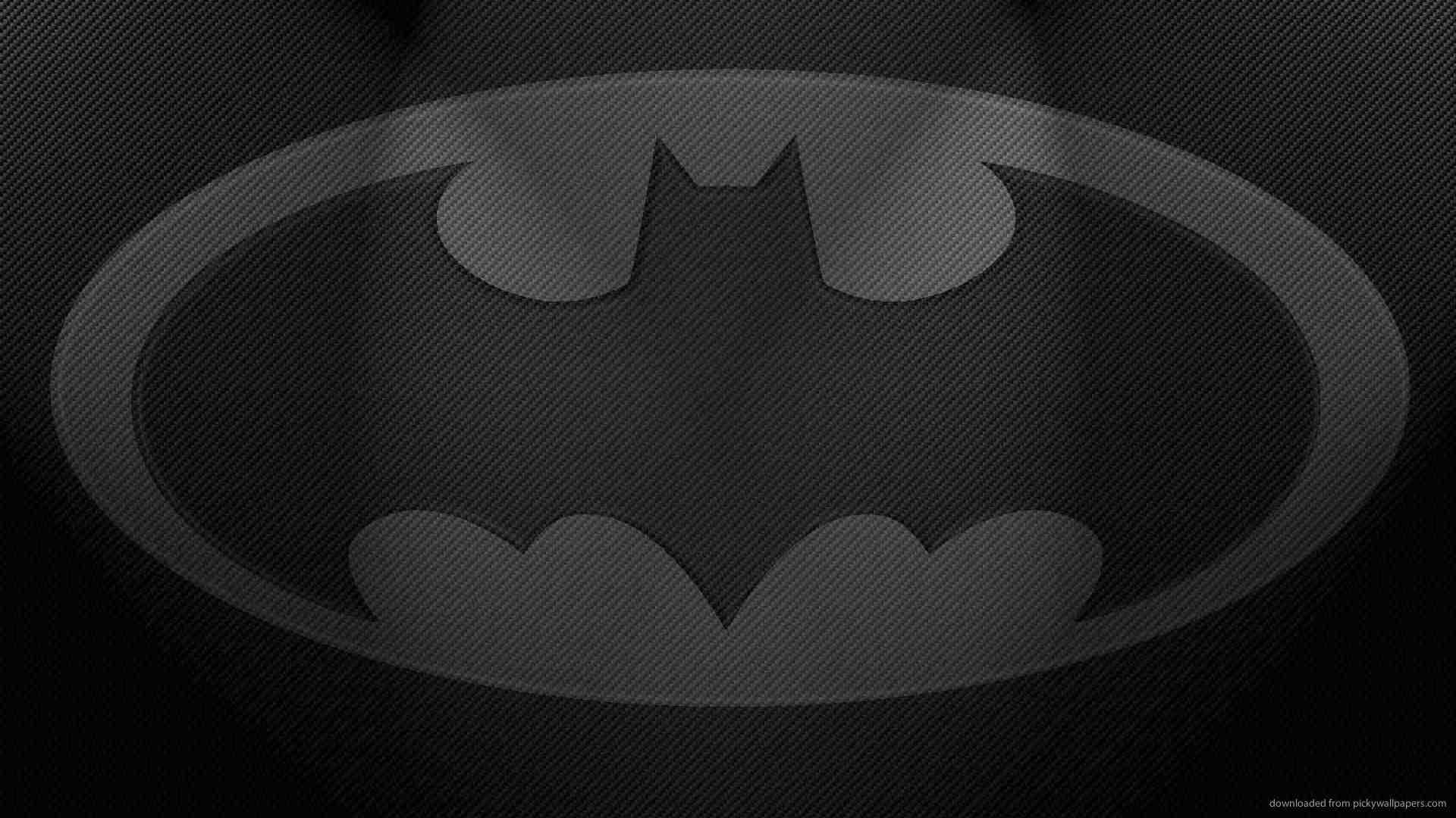 Download Batman Gray Logo Wallpaper
