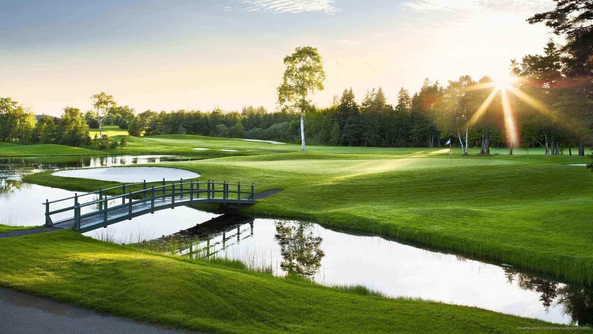 Golf Course Sunset Desktop Wallpaper picture