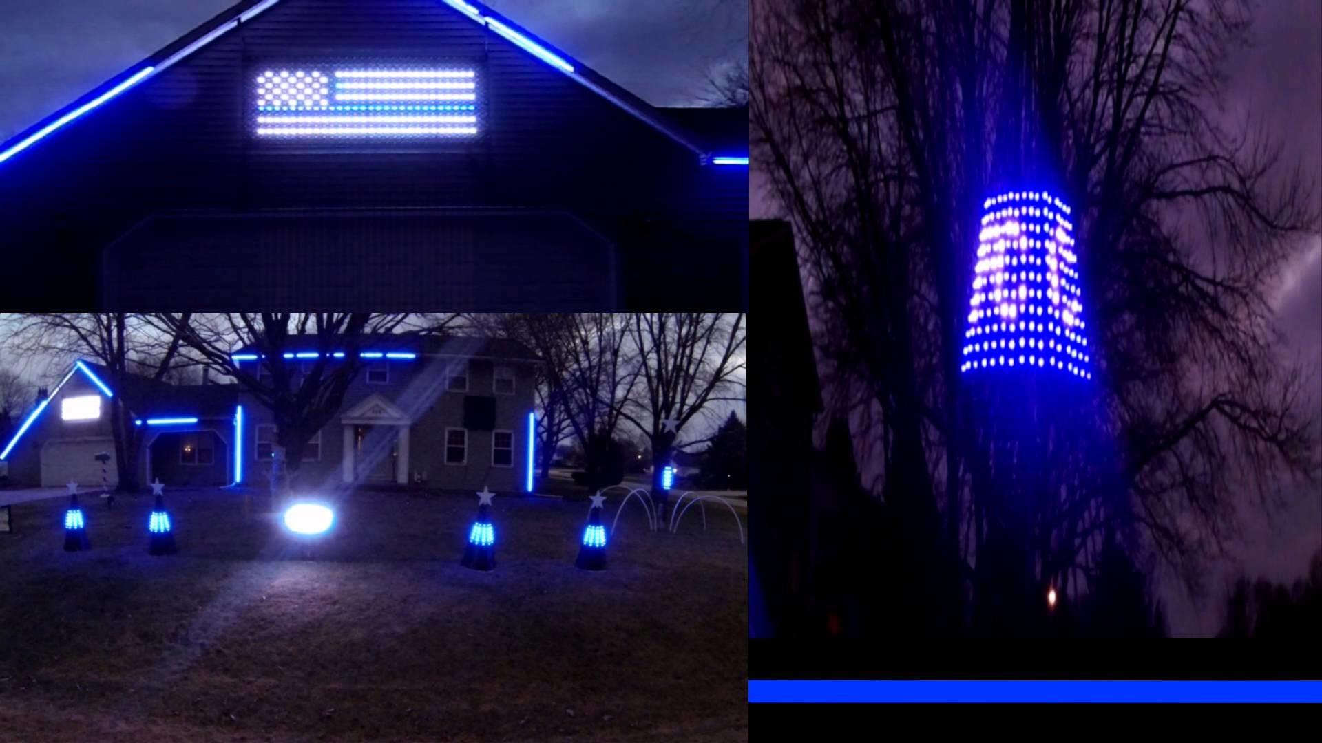 Azalea Lights 2015 Thin Blue Line Tribute