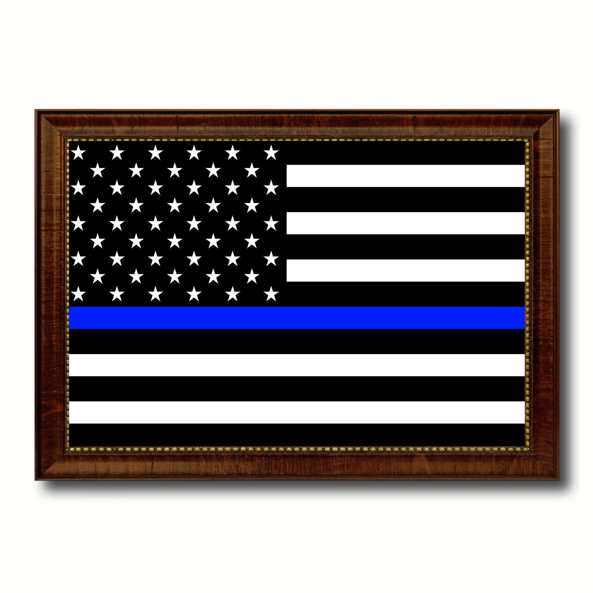 Thin Blue Line Honoring our Men and Women of Law Enforcement American Police  Flag Canvas Print