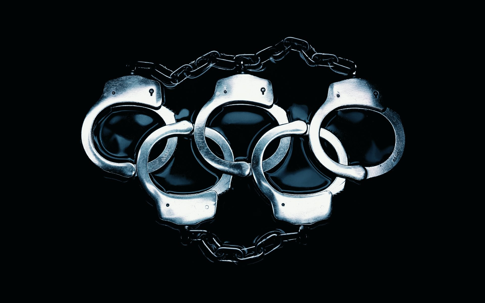 Wallpaper police, olympic games, metal, handcuff, Police .