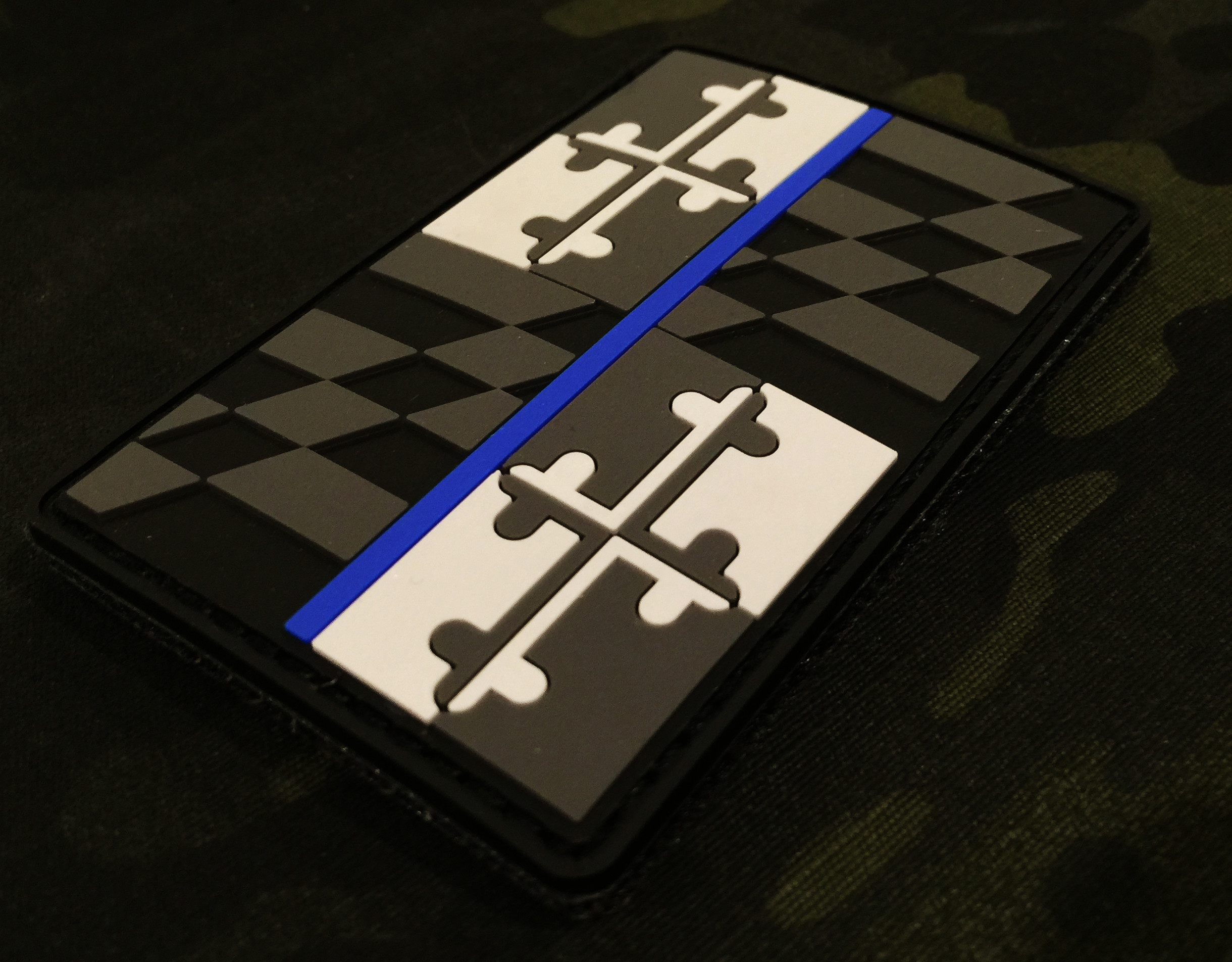 Thin Blue Line MARYLAND State Flag PVC Patch